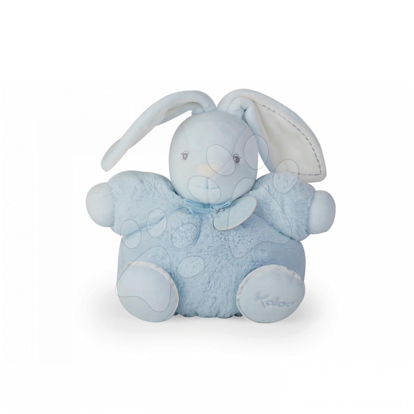 Hračky pre bábätká - Plyšový zajačik Perle-Chubby Rabbit Kaloo 18 cm v darčekovom balení pre najmenších modrý