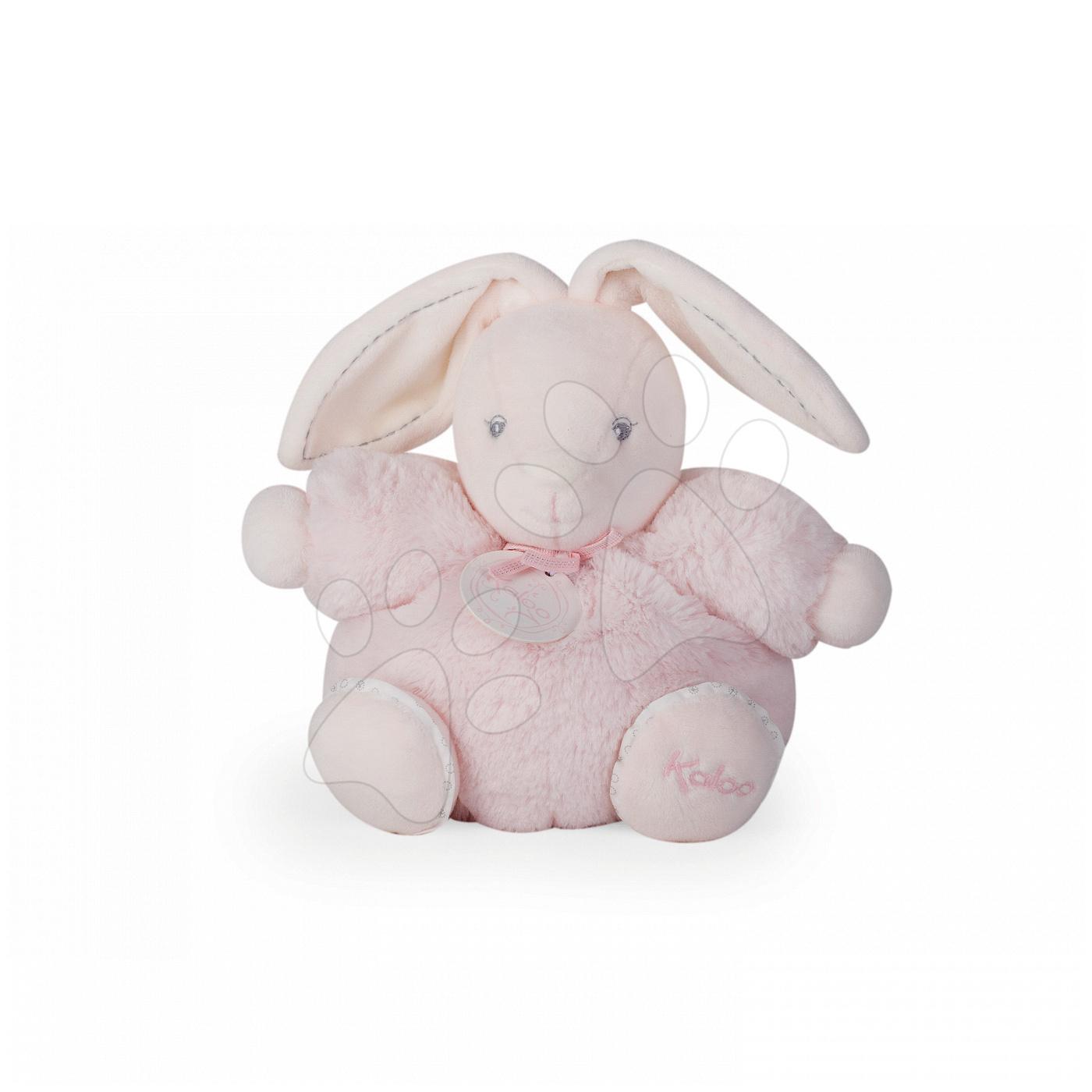 Hračky pre bábätká - Plyšový zajačik Perle-Chubby Rabbit Kaloo 18 cm v darčekovom balení pre najmenších ružový