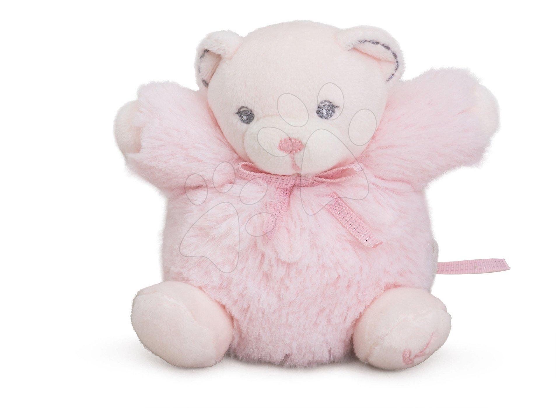 Plyšové medvede - Plyšový medvedík Perle-Mini Chubbies Bear Kaloo 12 cm pre najmenších ružový