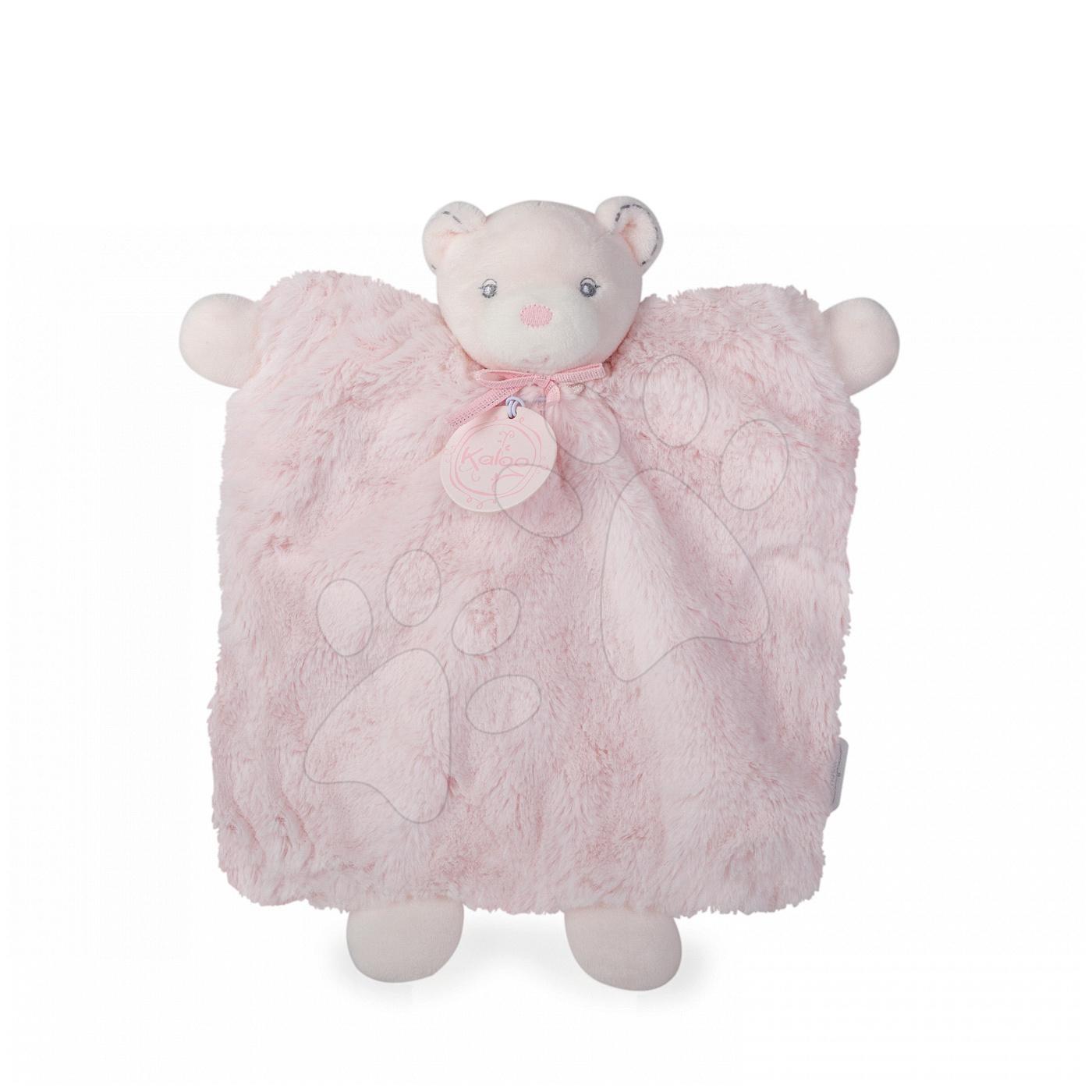 Plyšový medvídek loutkové divadlo Perle-Doudou Bear Kaloo 20 cm v dárkovém balení pro nejmenší růžový