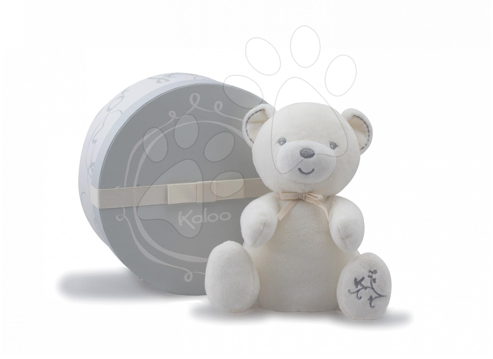 Plyšový medvídek Perle-Musical Baby Doudou Kaloo zpívající 25 cm v dárkovém balení pro nejmenší krémový