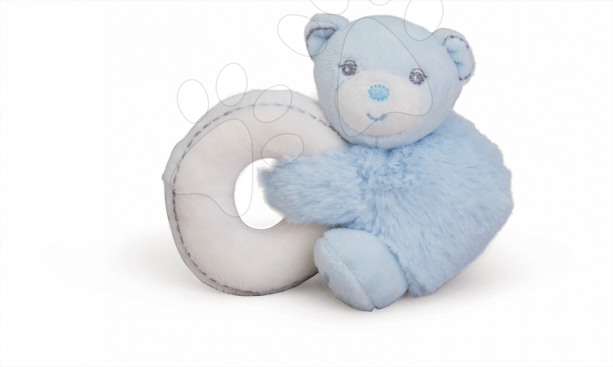 Hrkálky a hryzátka - Plyšový medvedík Perle-Mini Ratles Kaloo s hrkálkou 10 cm pre najmenších modrý