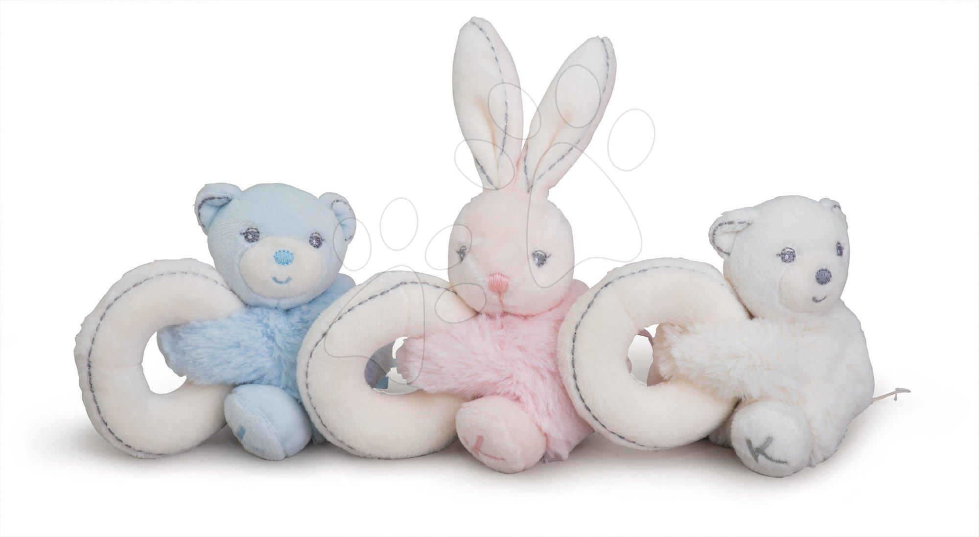 Plyšové hračky Perle Set Kaloo s hrkálkou 10 cm 3 kusy pre najmenších