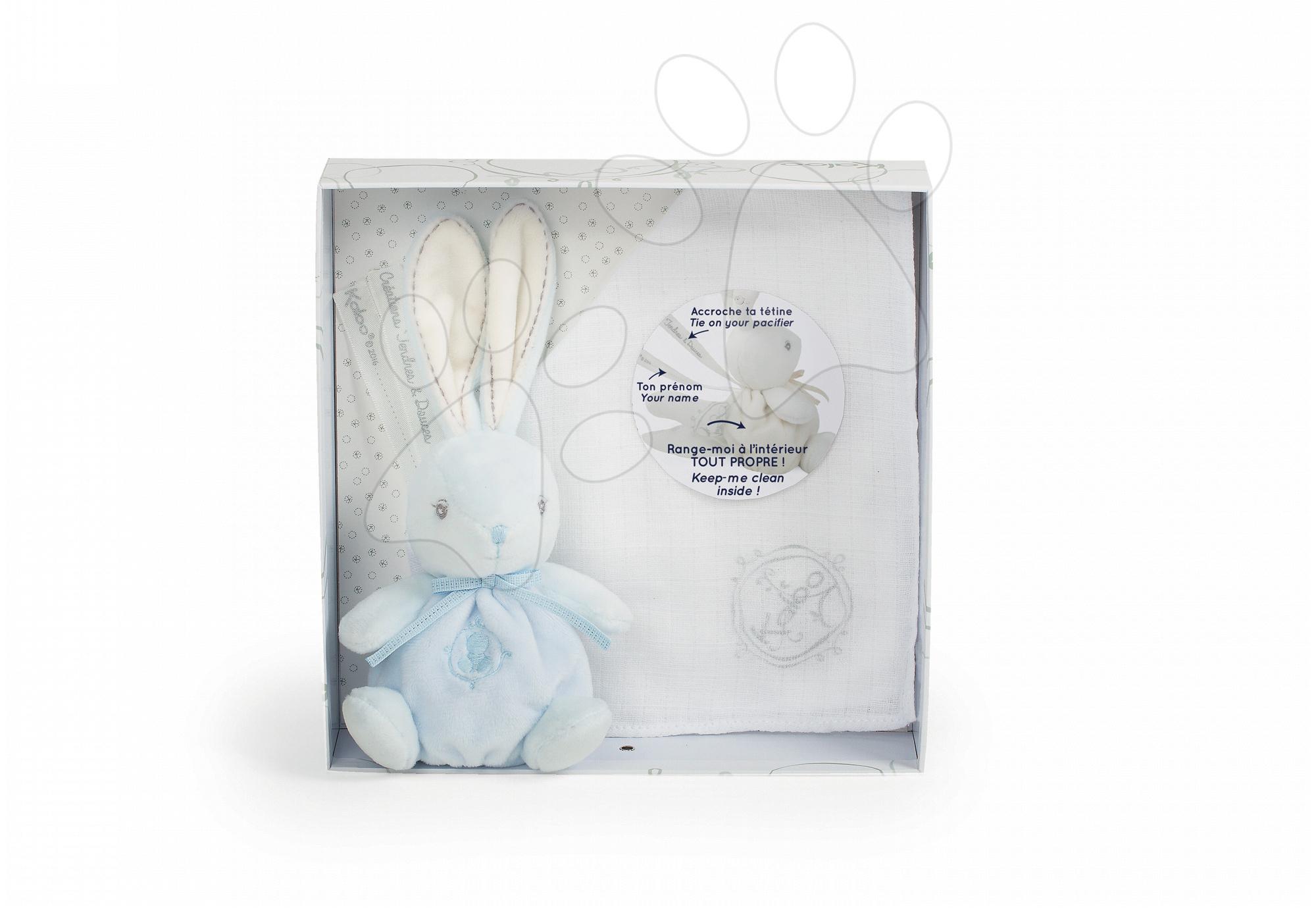 Kaloo plyšový zajačik Perle Kaloodoo 40 cm 962199 modro-biely