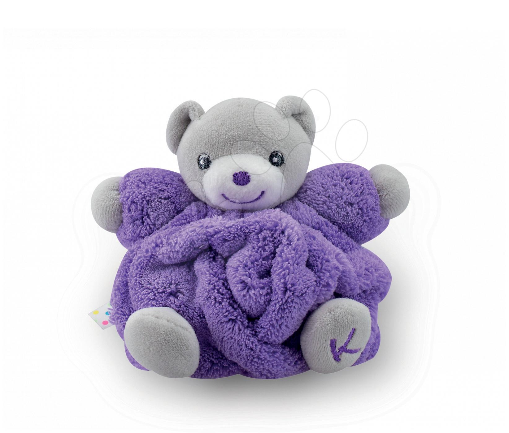 Plyšové medvede - Plyšový medvedík Plume-Mini Neon Kaloo 12 cm pre najmenších fialový