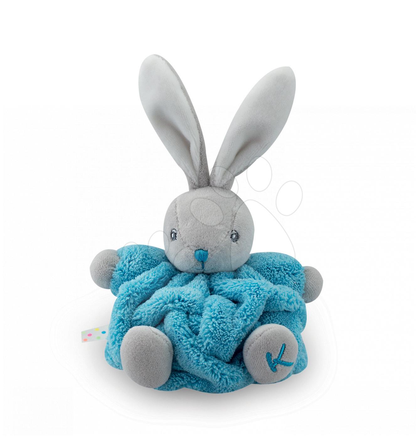 Plyšový králíček Plume-Mini Neon Kaloo 12 cm pro nejmenší tyrkysový