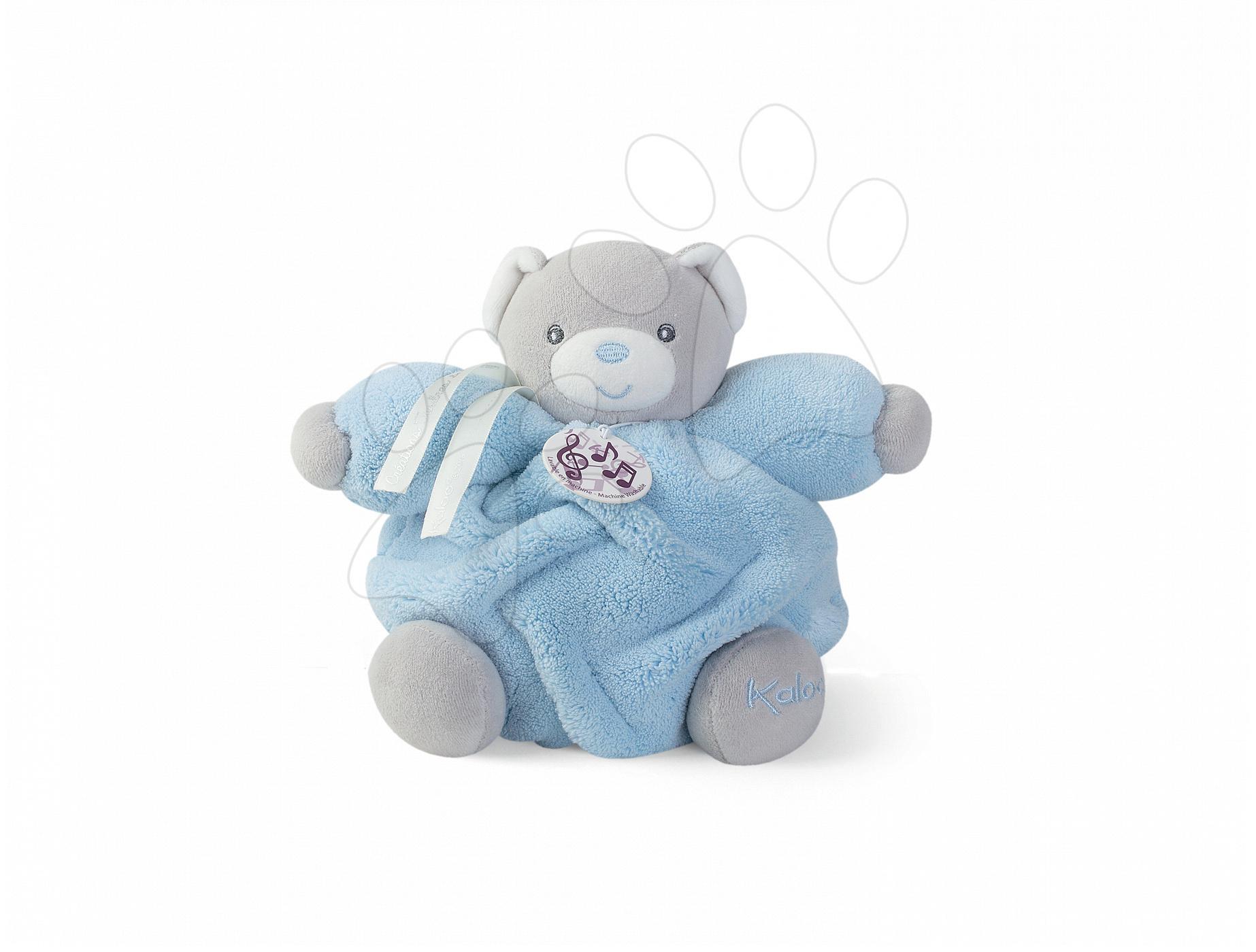 Plyšový medvídek Plume-P'tit Ours Ciel Musical Kaloo zpívající 18 cm v dárkovém balení modrý