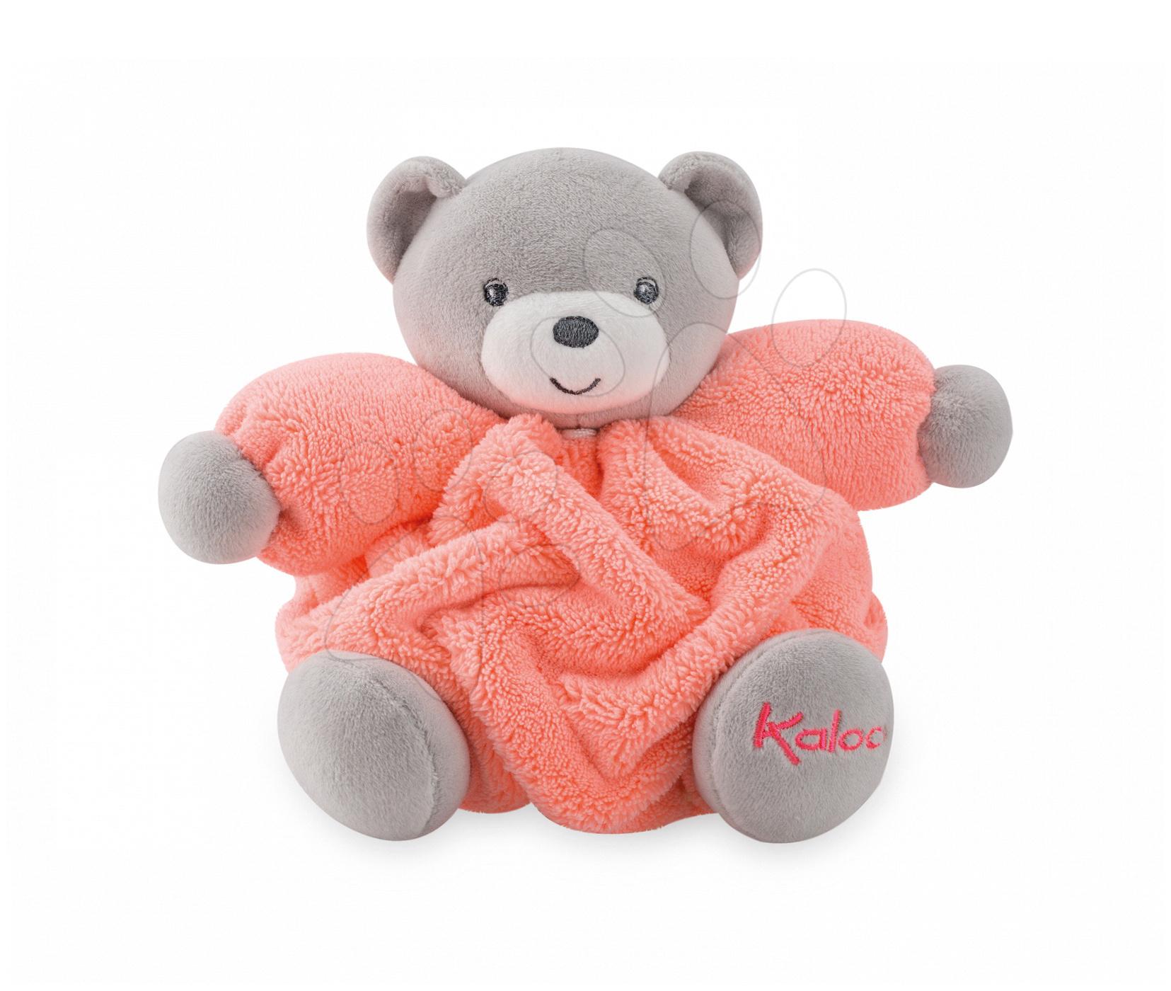 Plyšový medvěd Chubby Neon Kaloo 18 cm v dárkovém balení pro nejmenší oranžový