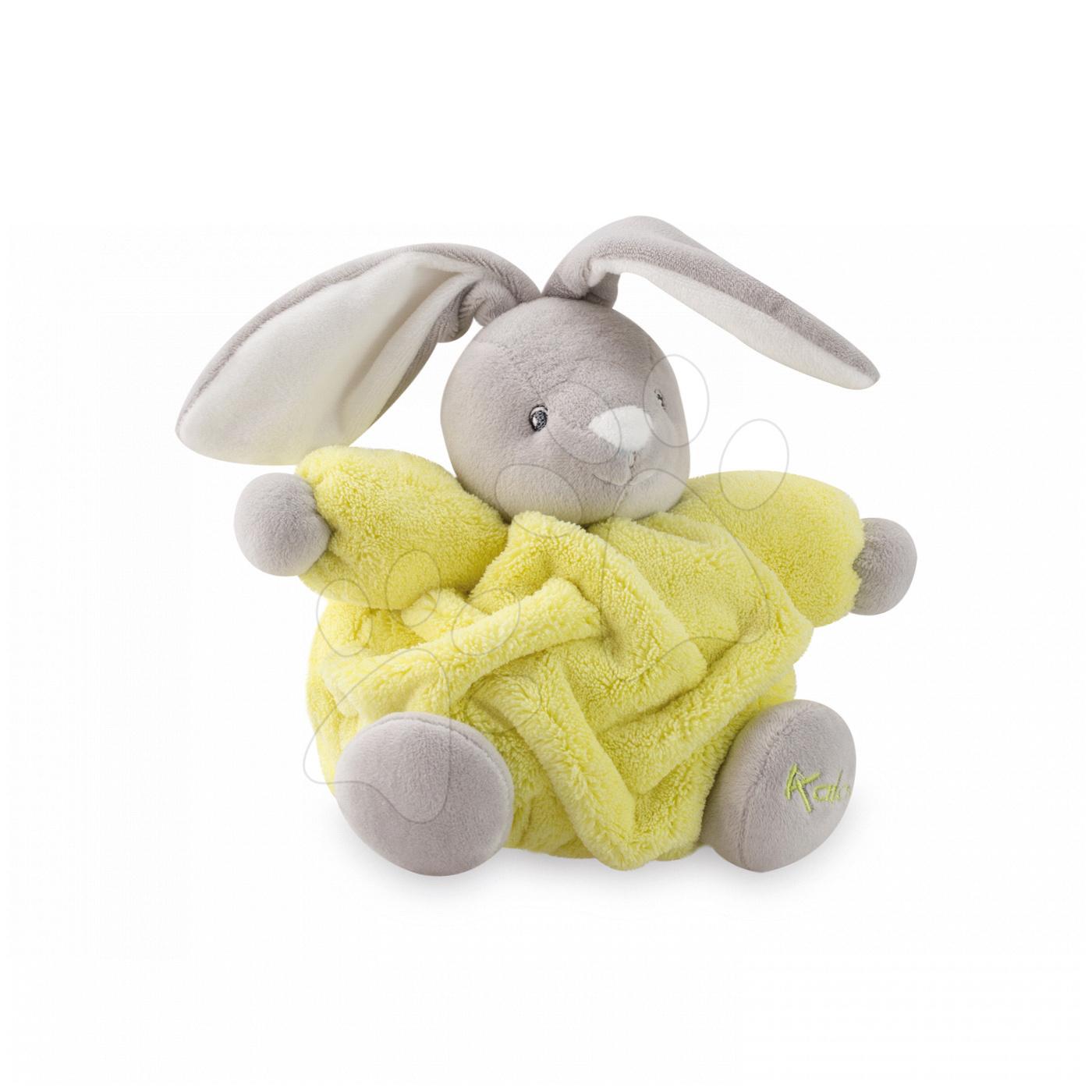 Plyšový králíček Chubby Neon Kaloo 18 cm v dárkovém balení pro nejmenší žlutý