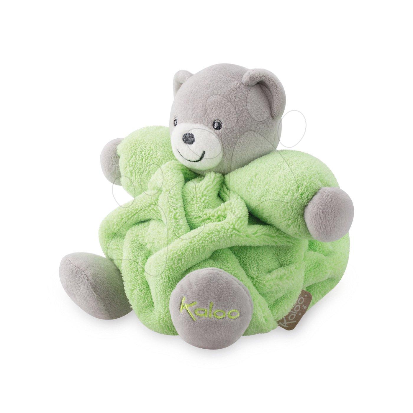 Plyšové medvede - Plyšový medveď Chubby Neon Kaloo 18 cm v darčekovom balení pre najmenších zelený