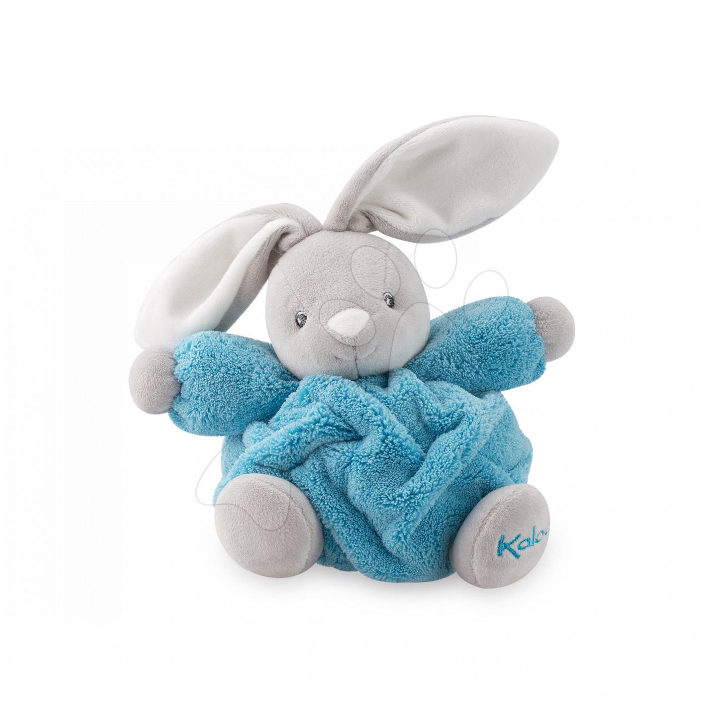 Hračky pre bábätká - Plyšový zajačik Chubby Neon Kaloo 18 cm v darčekovom balení pre najmenších modrý