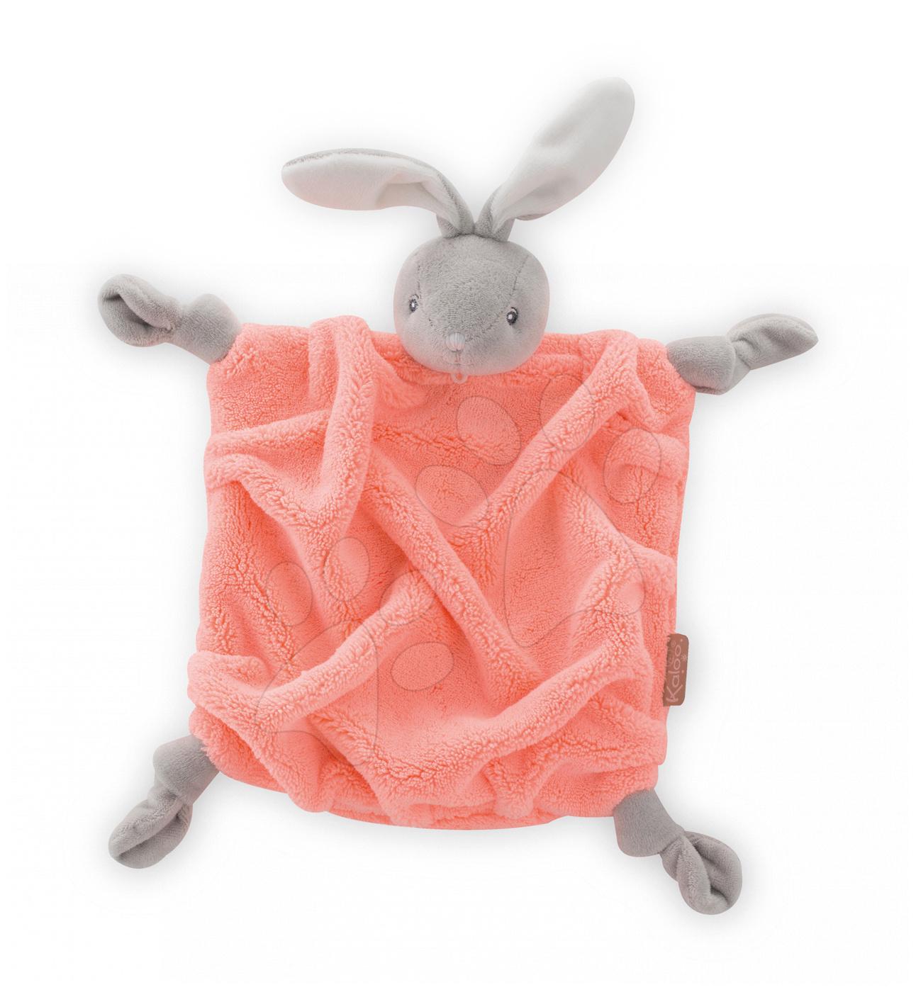 Plyšový králíček na mazlení Neon Doudou Kaloo 20 cm v dárkovém balení oranžový