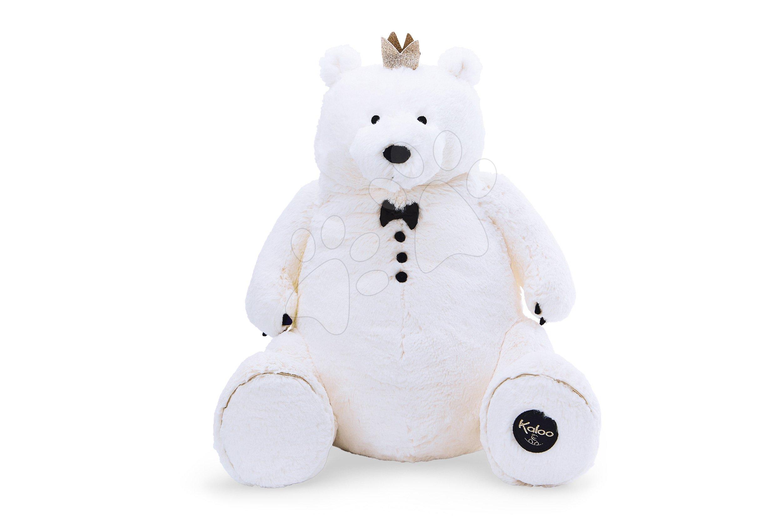 Plyšový medvěd s královskou korunkou Prince of Cuddles Kaloo 60 cm v dárkové krabici od 0 měsíců