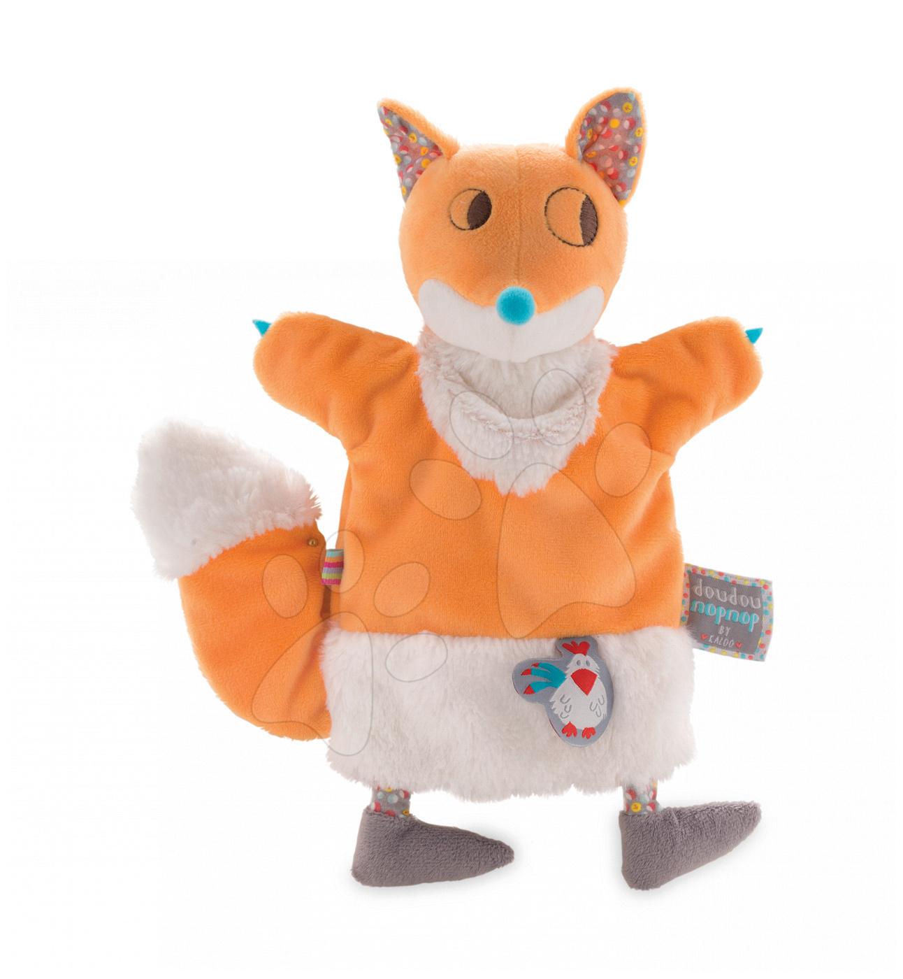 Plyšová liška loutkové divadlo Kaloo Nop Nop-Yummy Fox Doudou 25 cm