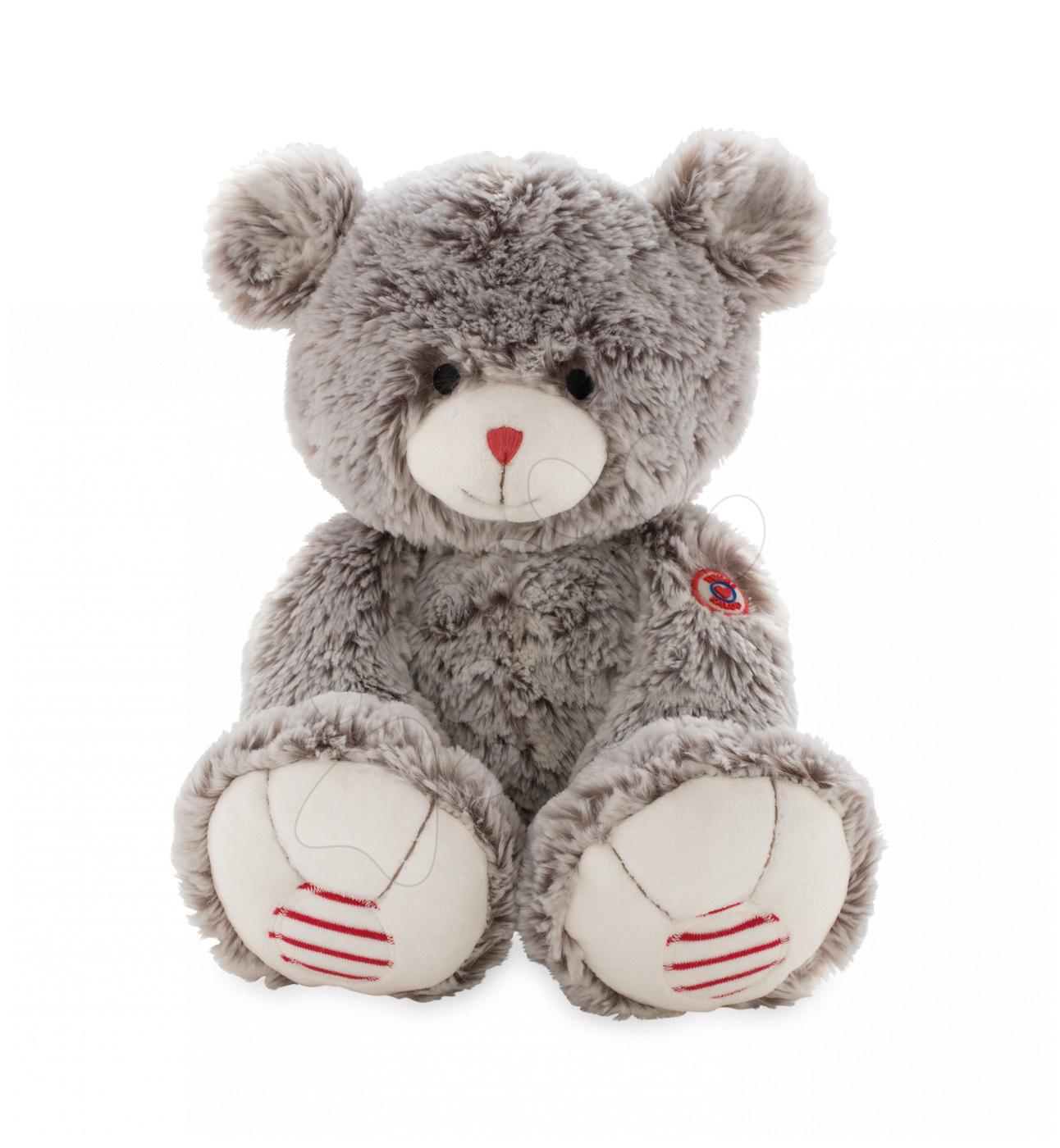 Plyšový medvěd Rouge Kaloo Large 38 cm z jemného plyše pro nejmenší děti krémově-šedý