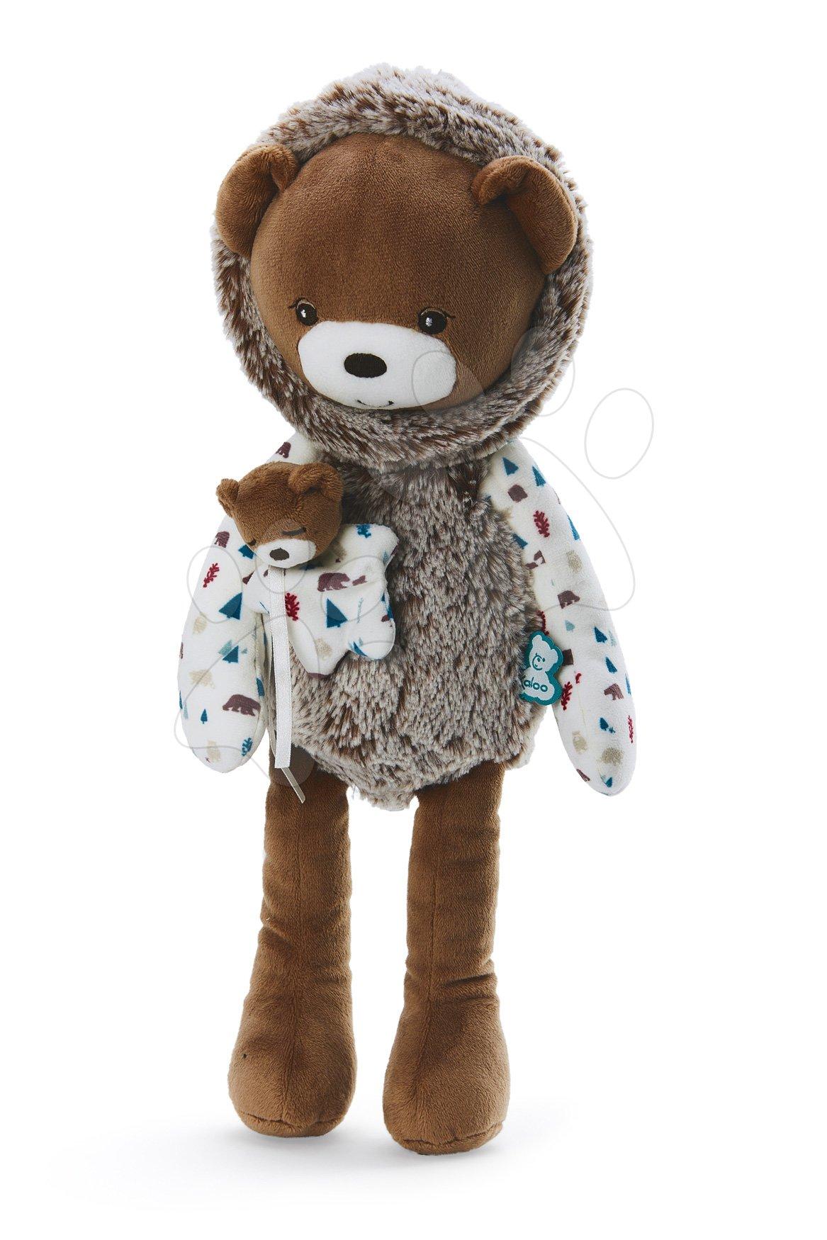 Plyšová bábika medveď s mláďaťom Doll Bear Gaston Classique Filoo Kaloo 40 cm v darčekovej krabici od 0 mes