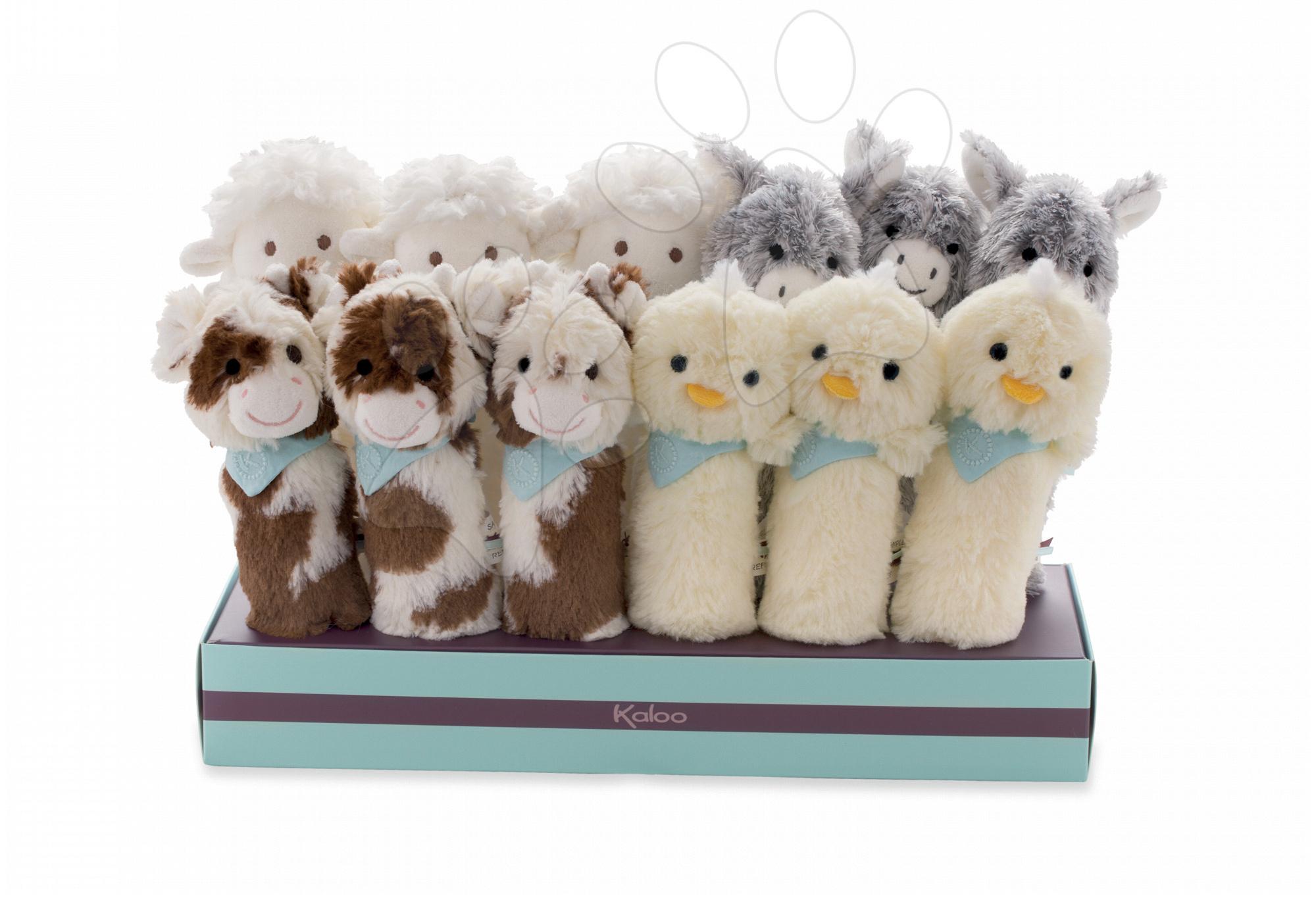 Kaloo plyšová hrkálka pre bábätko Les Amis zvieratko 962978