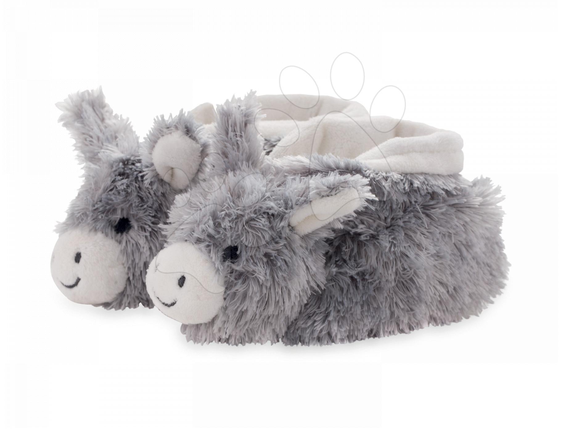 Kaloo plyšové papučky somárik Les Amis 962983 krémovo-šedé