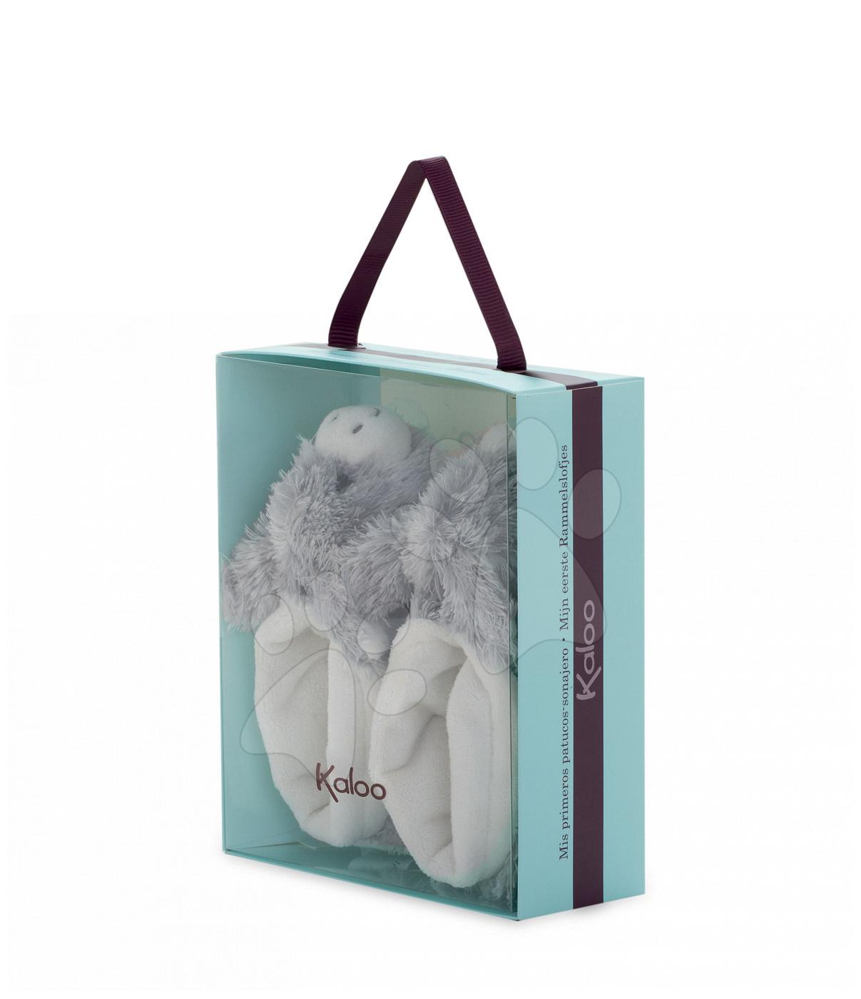 0f6aa862d34e Kaloo plyšové papučky somárik Les Amis 962983 krémovo-šedé