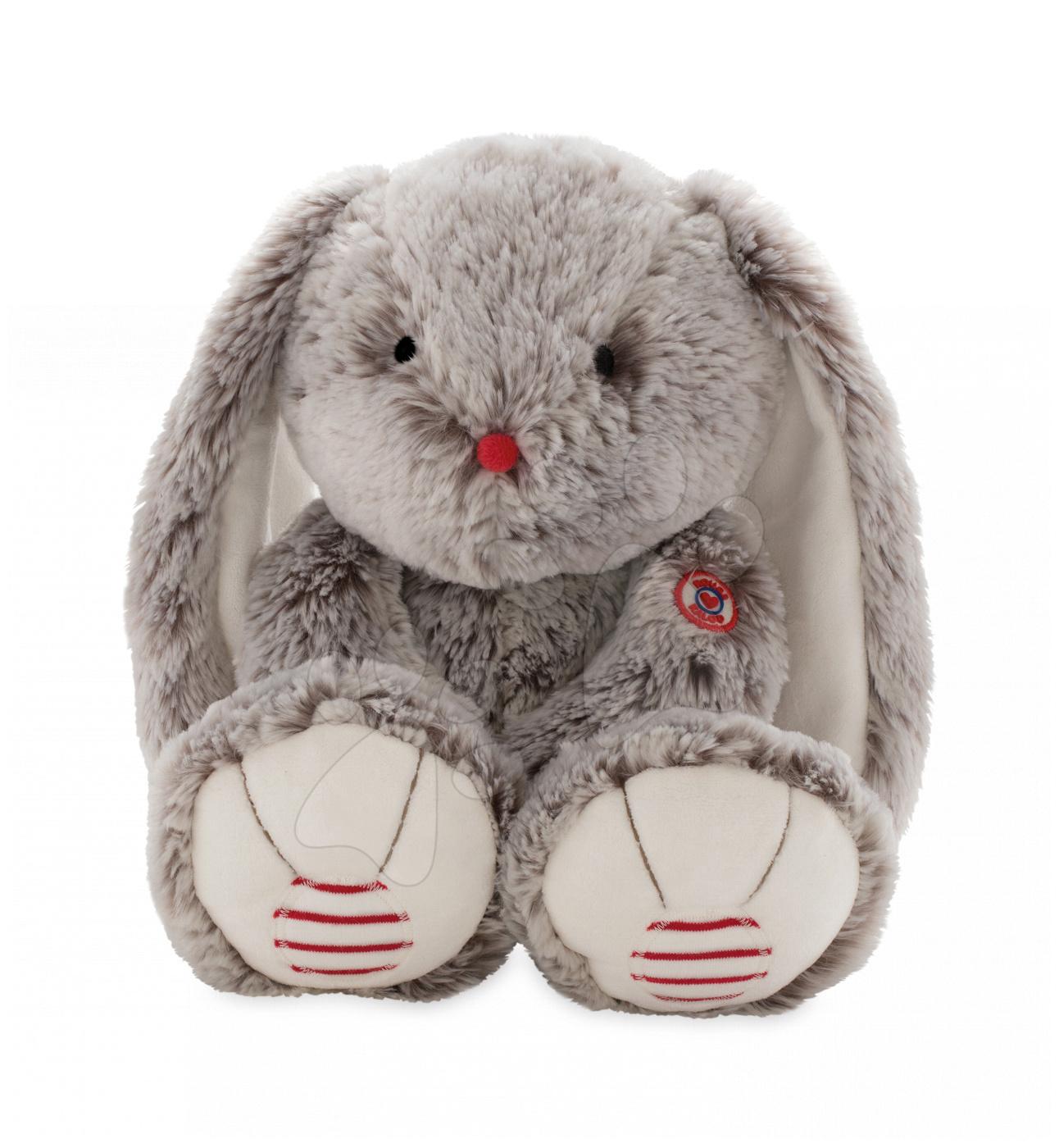 Plyšový zajac Rouge Kaloo Large 38 cm z jemného plyšu pre najmenšie deti krémovo-šedý