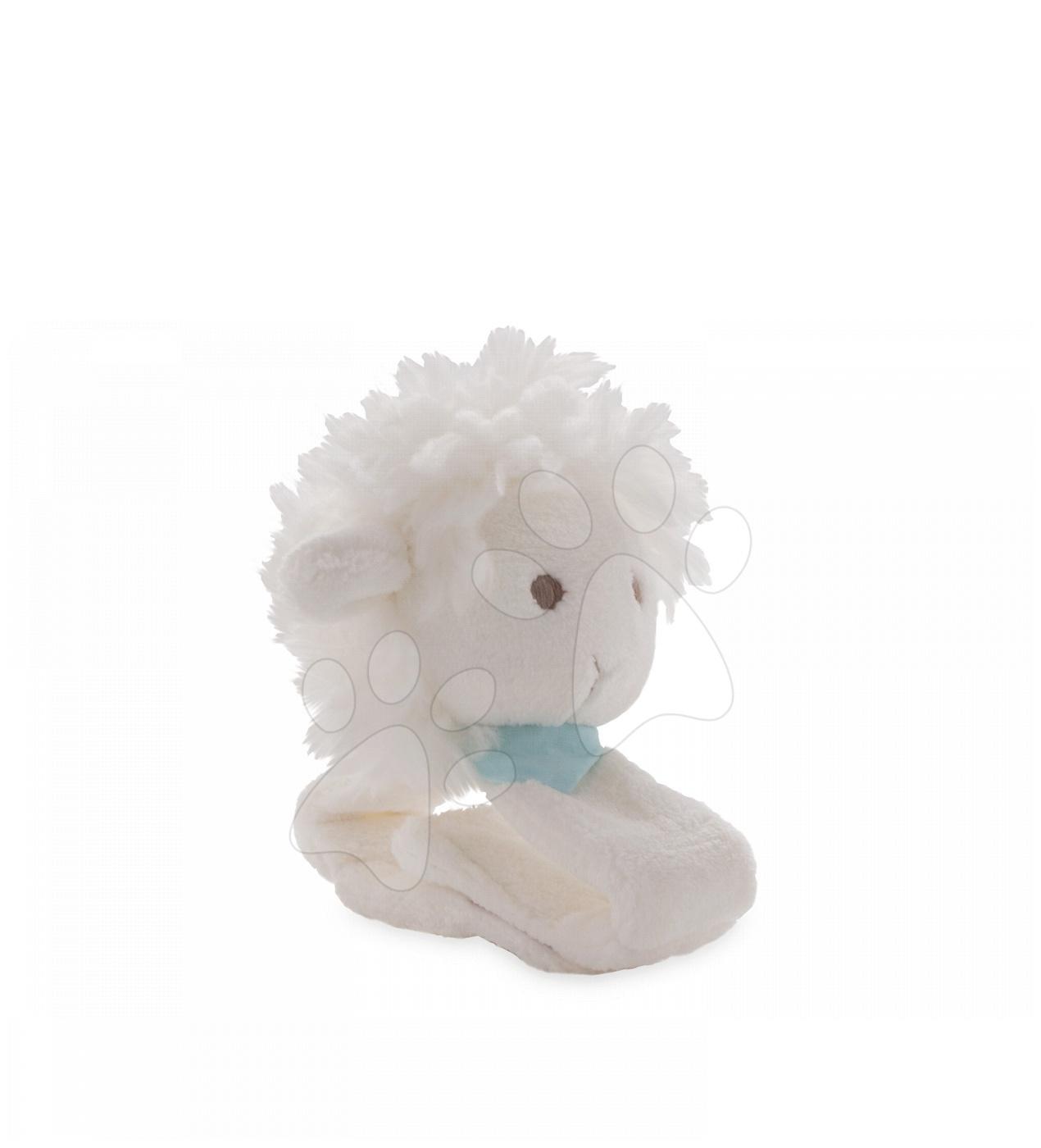 Plyšový náramek ovečka Les Amis Kaloo s chrastítkem 12 cm z jemného plyše pro nejmenší bílý