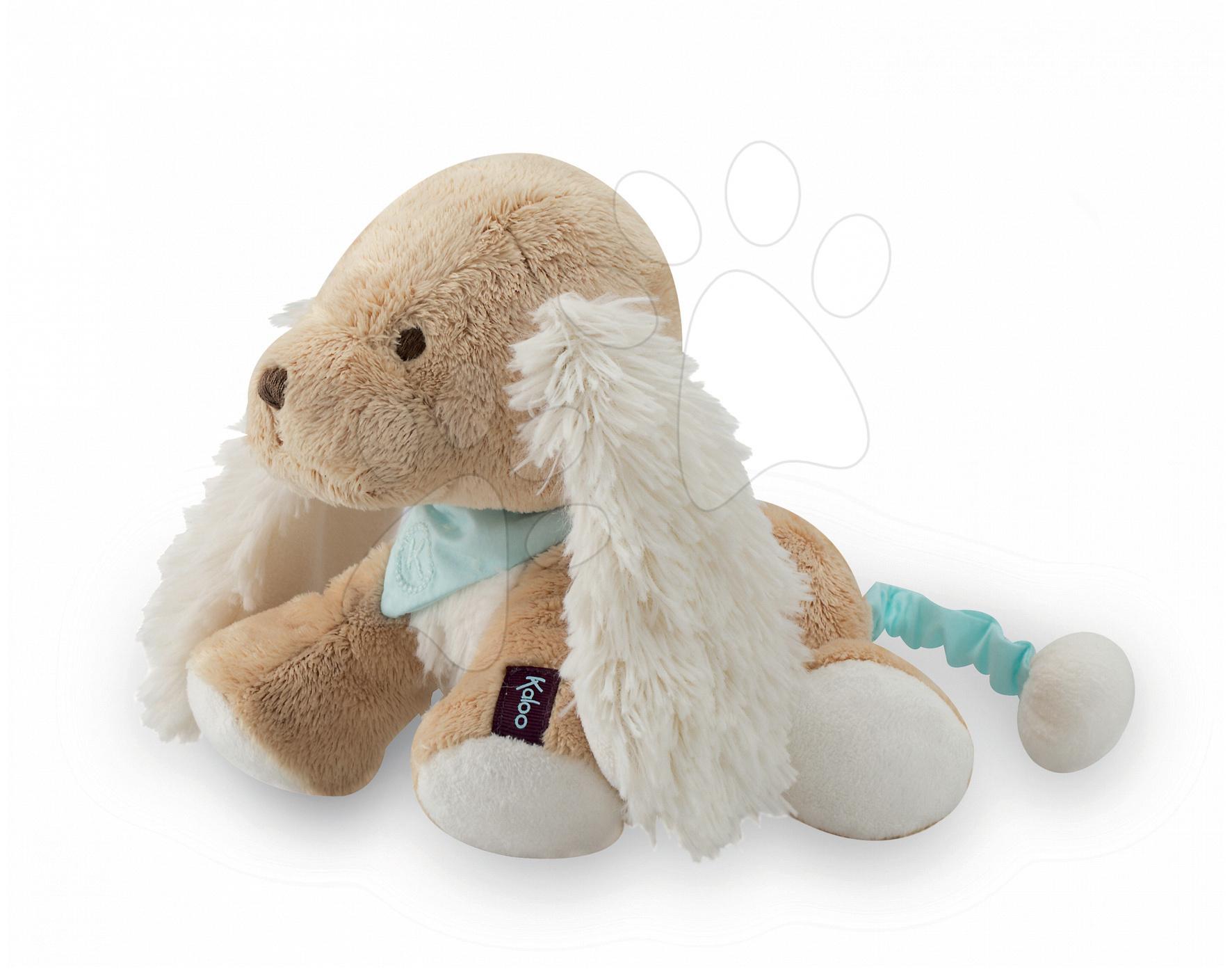 Plyšové zvieratká - Plyšový psík Les Amis-Caramel Chien Kaloo spievajúci 25 cm v darčekovom balení pre najmenších