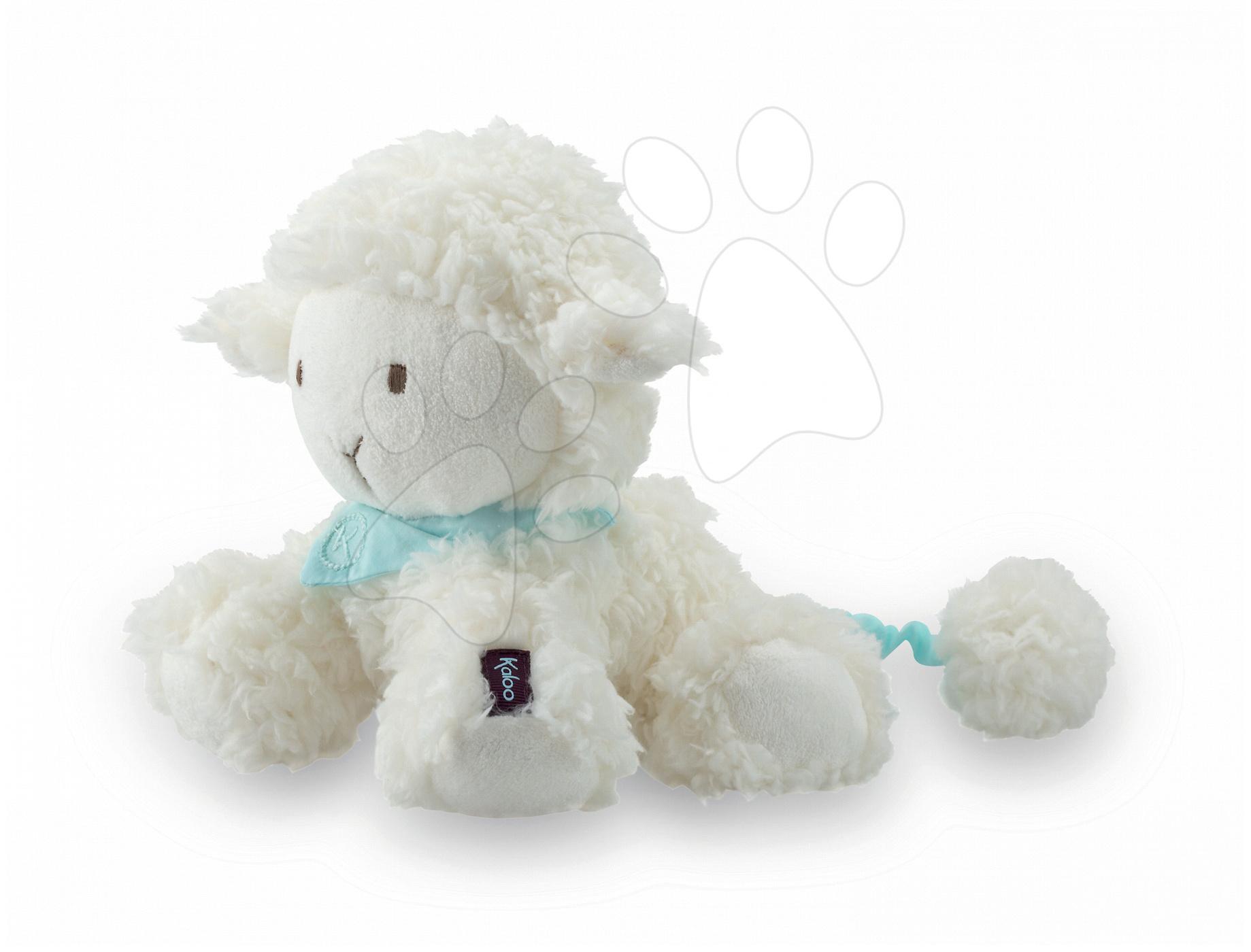 Plyšové zvieratká - Plyšová ovečka Les Amis-Vanille Lamb Kaloo spievajúca 25 cm v darčekovom balení pre najmenších