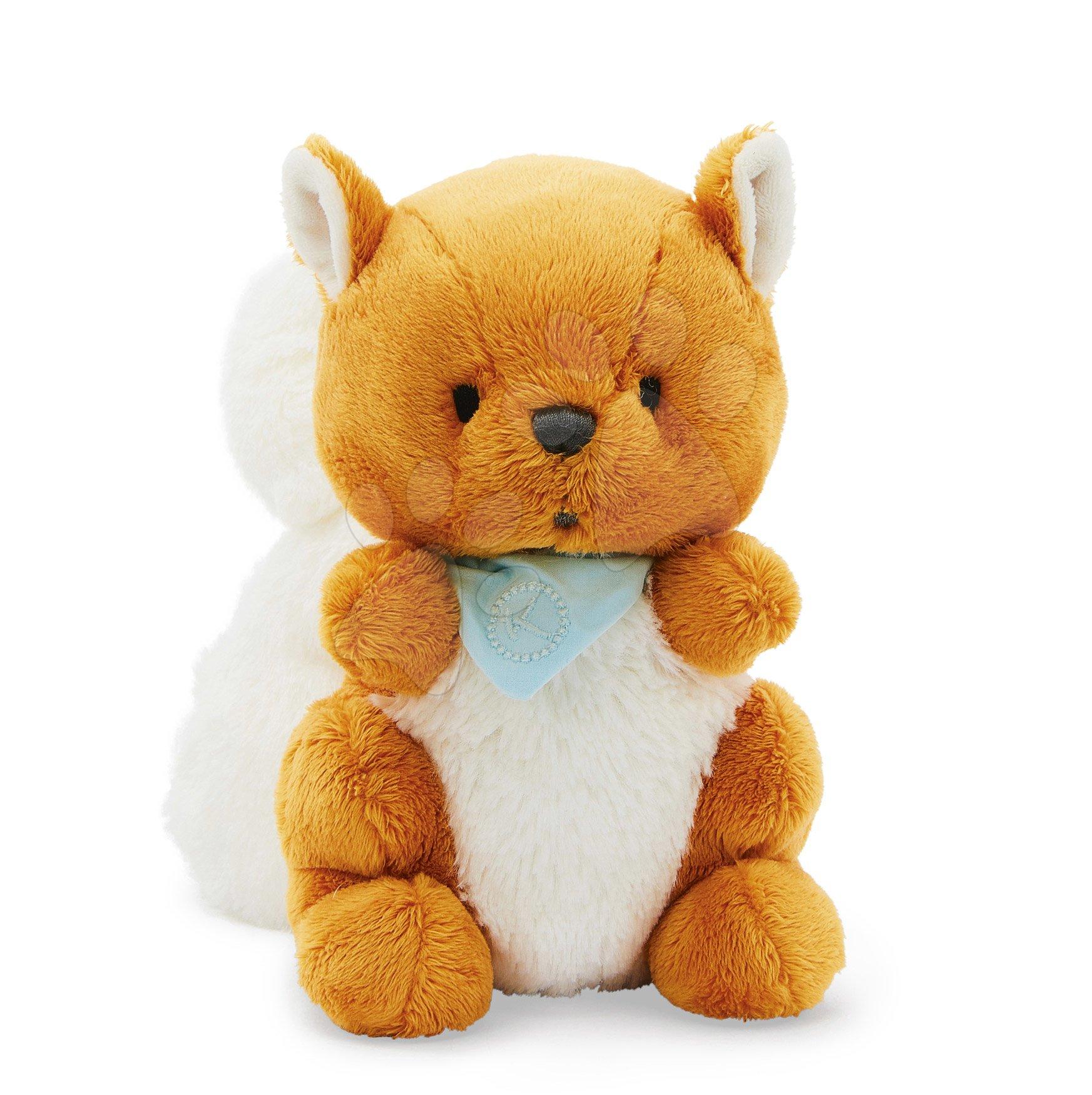 Plyšová veverička Les Amis Kaloo Biscotte Squirrel 25 cm z jemnej mäkkej plyše v darčekovej krabičke od 0 mes