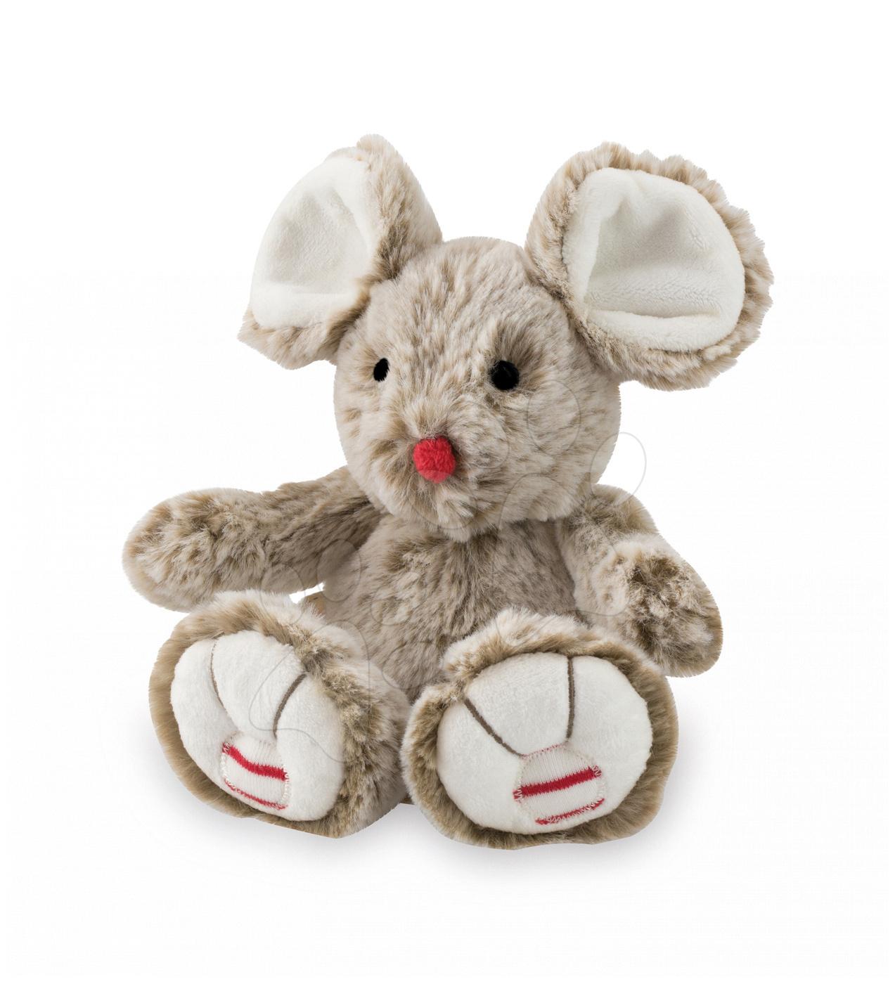 Plyšové a textilní hračky - Plyšová myška Rouge Kaloo 19 cm pro nejmenší béžová