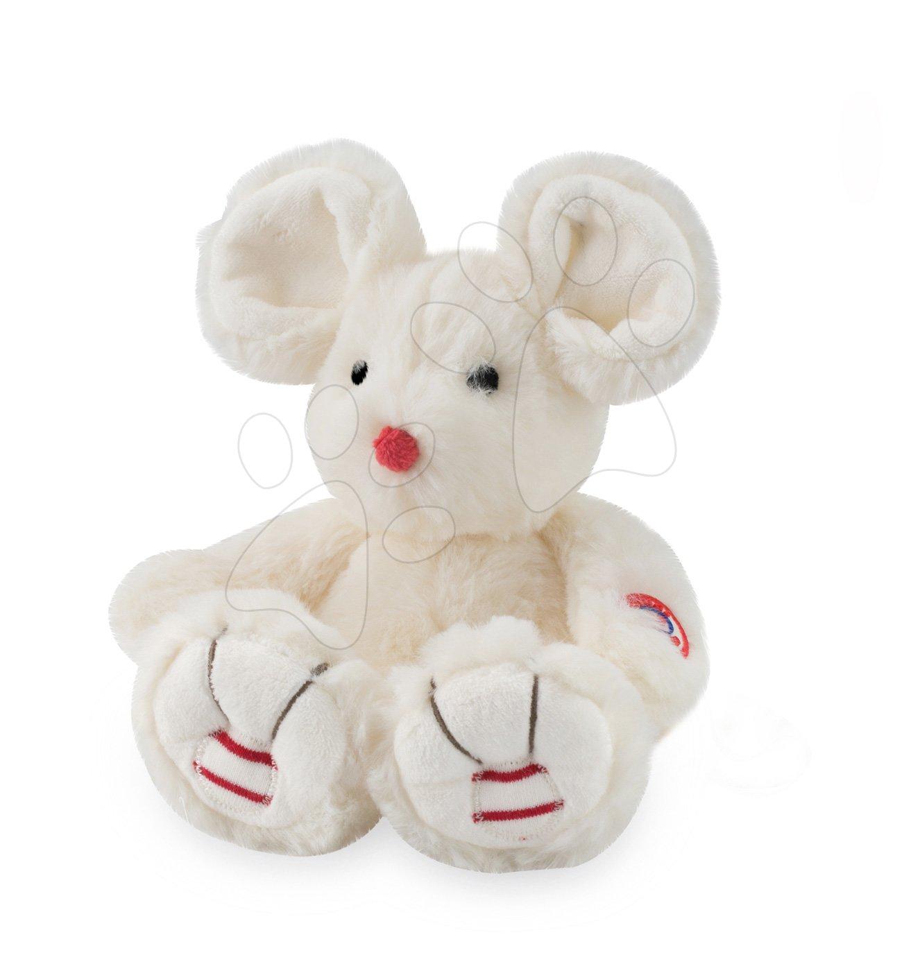 Plyšové zvieratká - Plyšová myška Rouge Kaloo 19 cm pre najmenších krémová