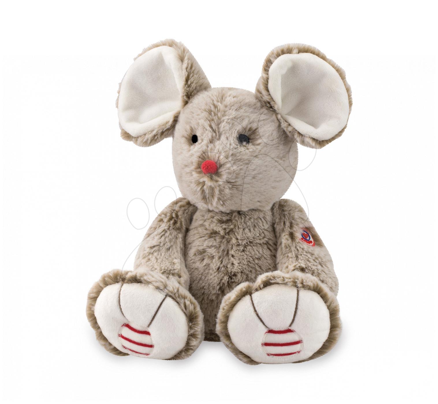 Plyšové a textilní hračky - Plyšová myška Rouge Kaloo 31 cm pro nejmenší béžová