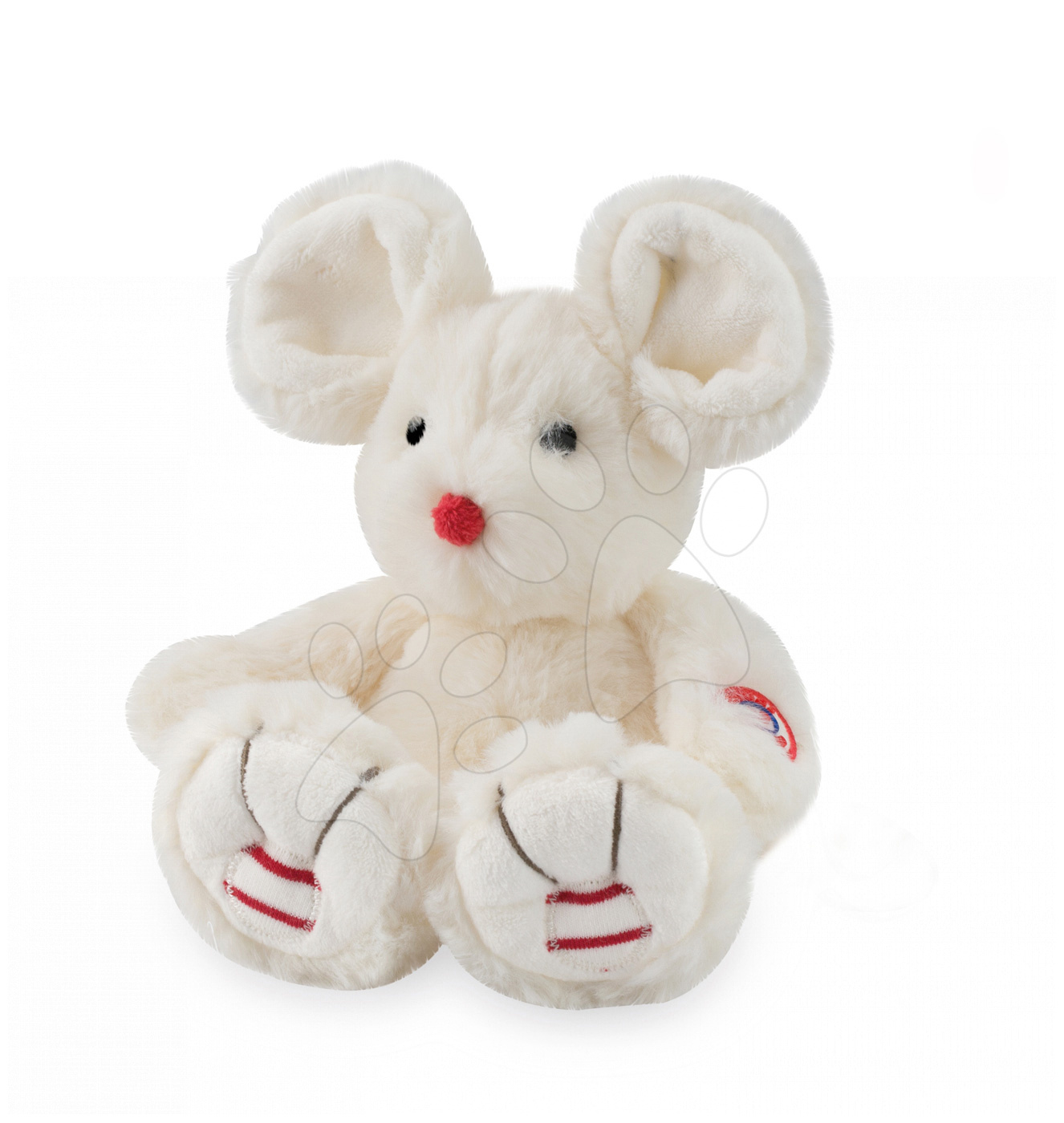 Plyšové a textilní hračky - Plyšová myška Rouge Kaloo 31cm pro nejmenší krémová