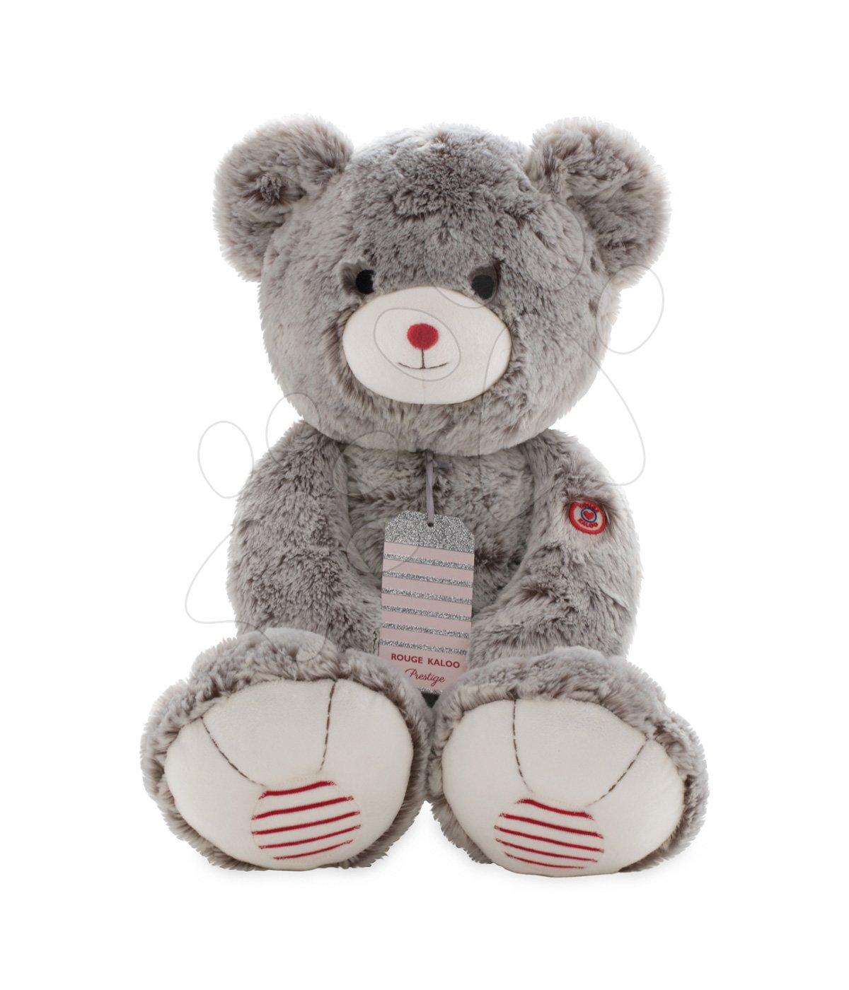 Plišasti medved Rouge Kaloo Prestige XL 55 cm iz nežnega pliša za najmlajše otroke kremno-siv