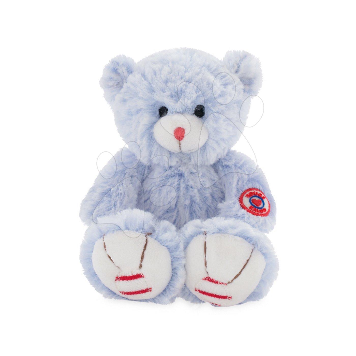 Plyšový medvěd Rouge Kaloo Small 19 cm z jemného plyše pro nejmenší děti modro-krémový