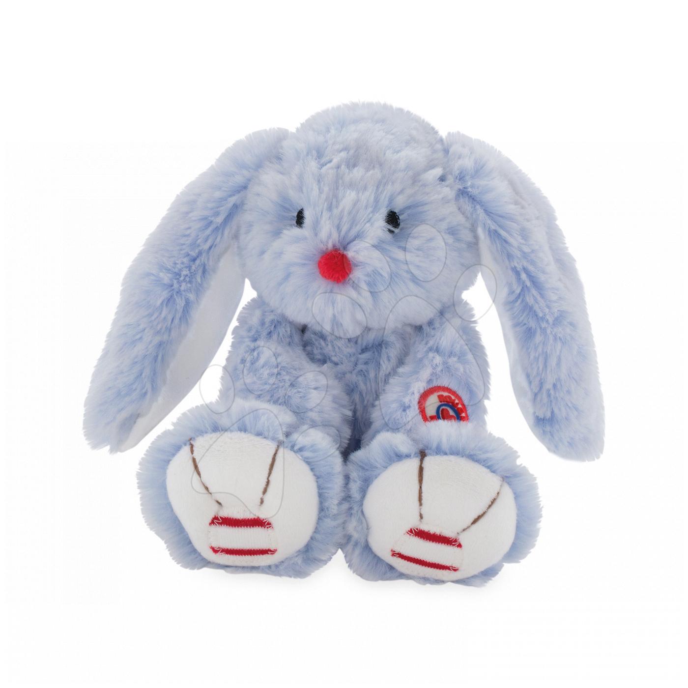 Hračky pro miminka - Plyšový zajíc Rouge Kaloo Small 19 cm z jemného plyše modro-krémový