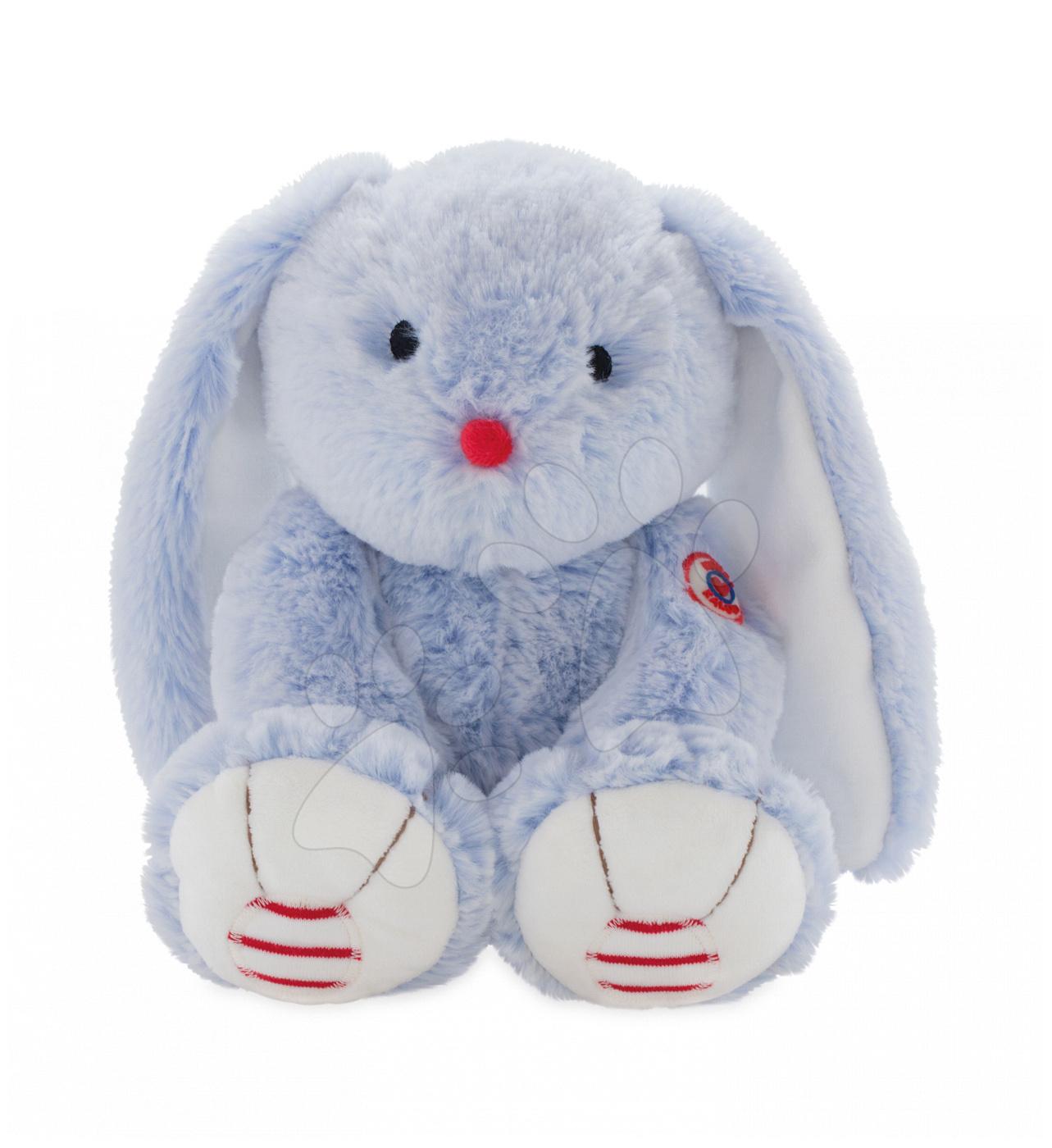 Kaloo zajko z jemného plyšu Rouge Medium pre najmenších 963548 modro-krémový