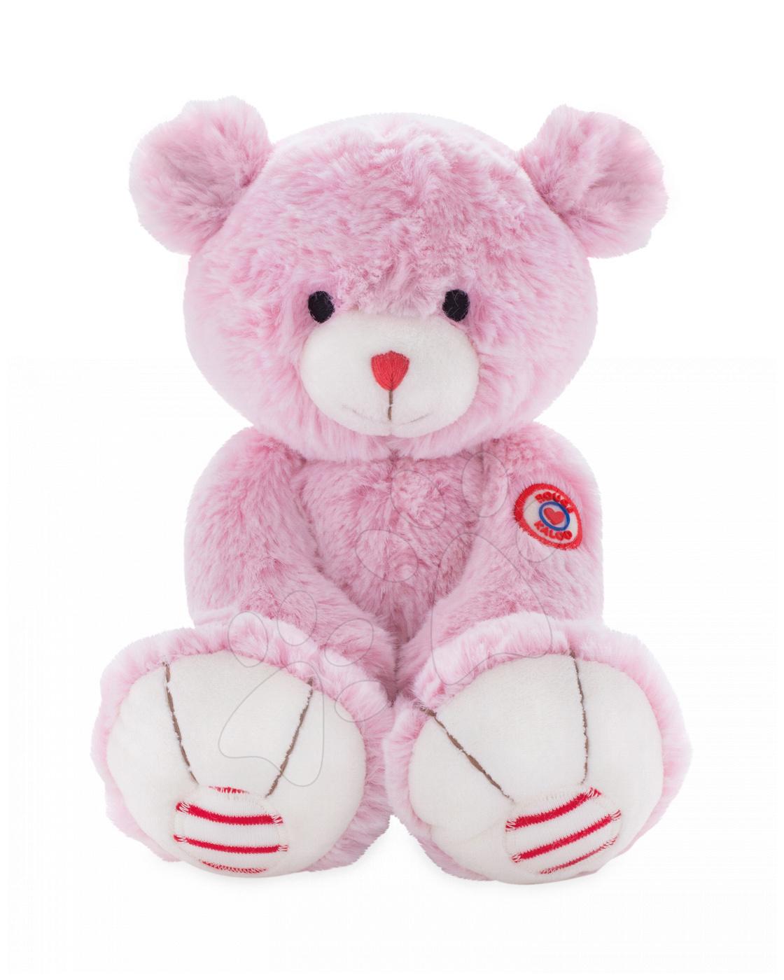 Plyšový medvěd Rouge Kaloo Medium 31 cm z jemného plyše růžovo-krémový