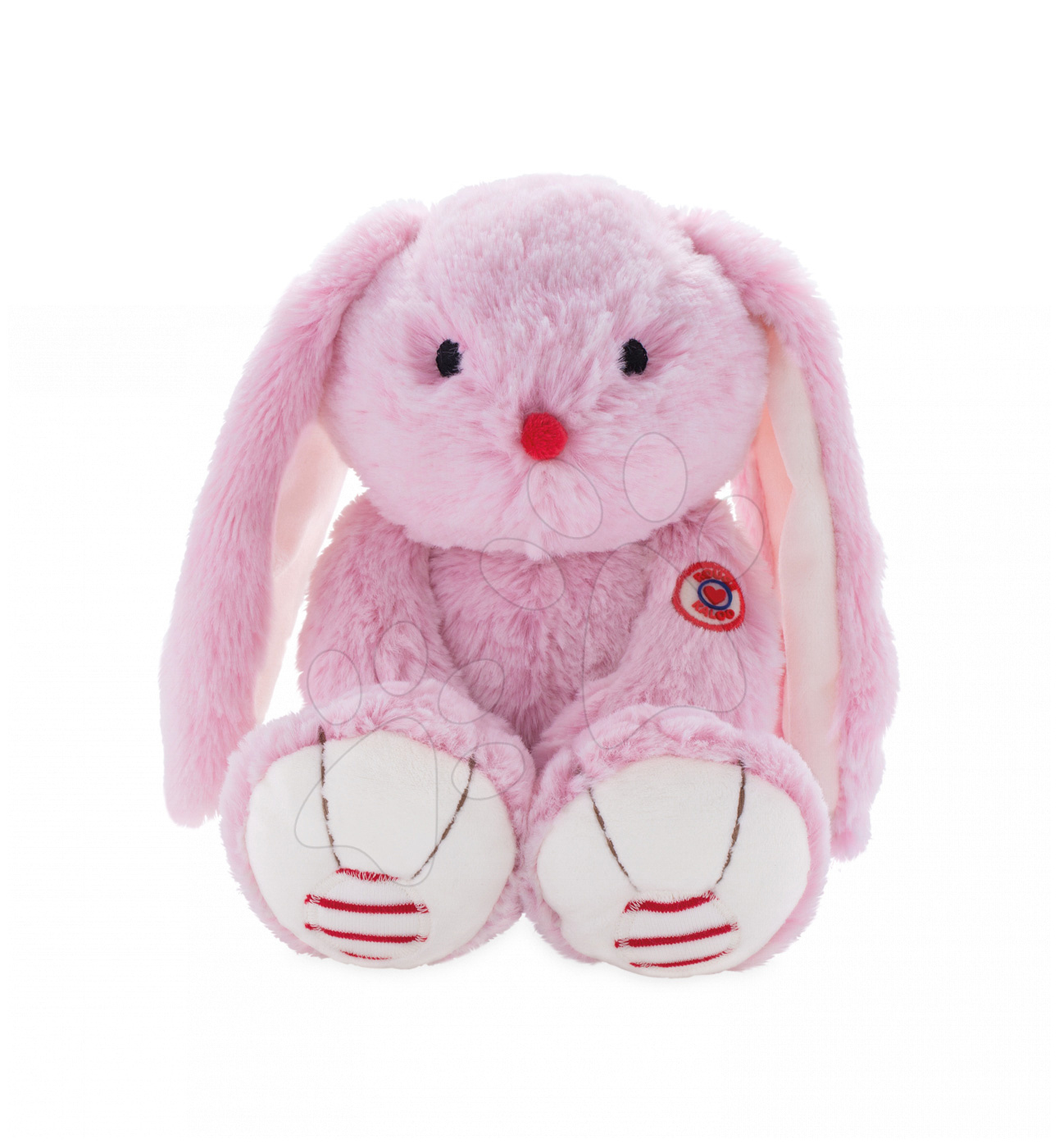 Plyšový zajíc Rouge Kaloo Medium 31 cm z jemného plyše pro nejmenší děti růžovo-krémový