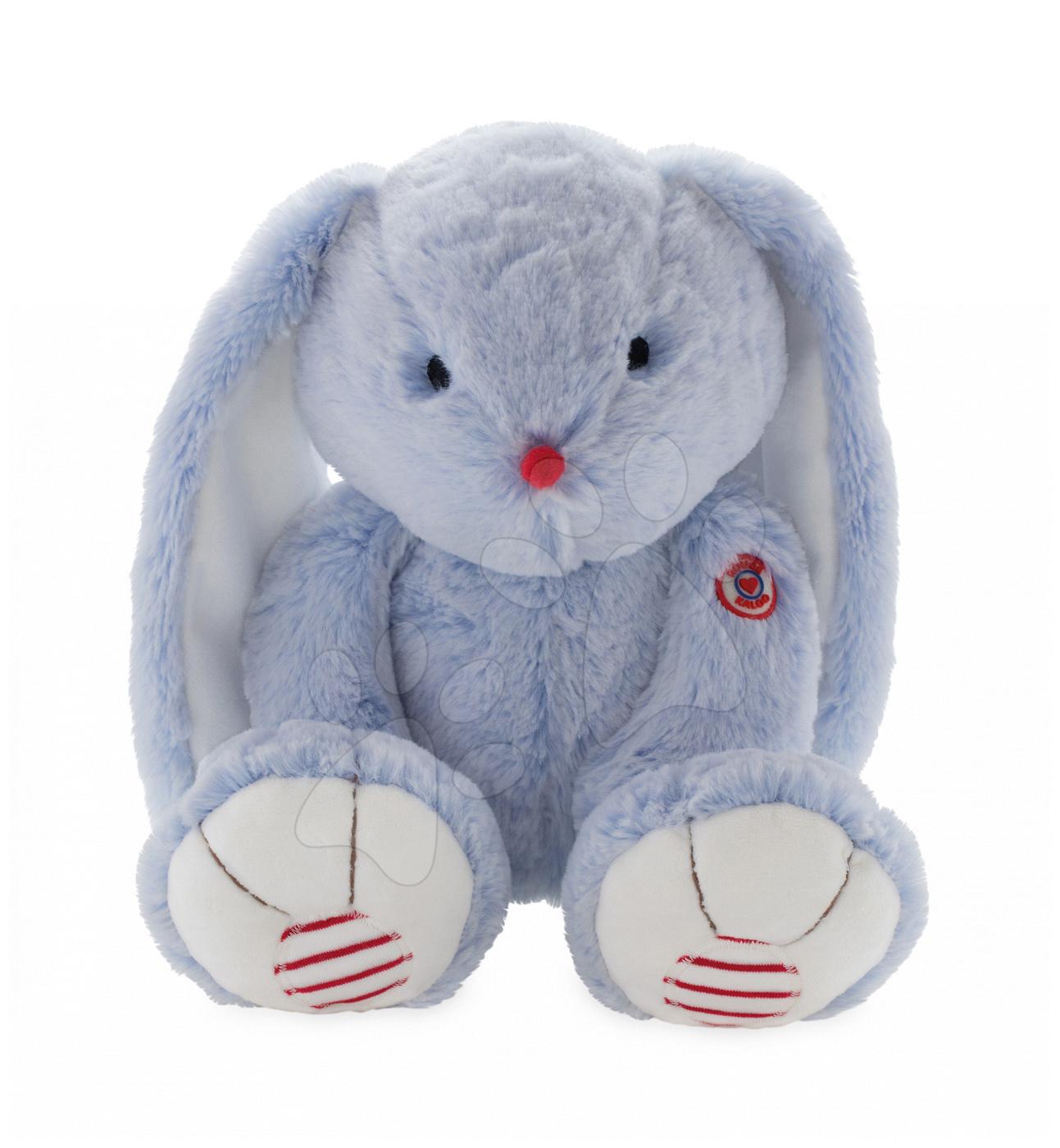 Hračky pro miminka - Plyšový zajíc Rouge Kaloo Large 38 cm z jemného plyše pro nejmenší modro-krémový od 0 měsíců