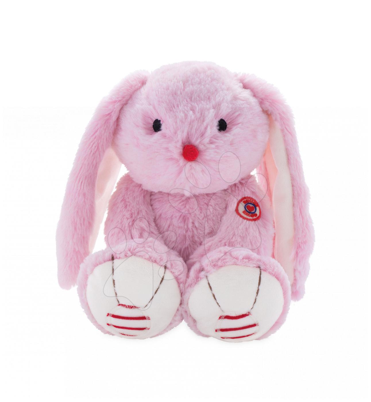 Plyšový zajíc Rouge Kaloo Small 13 cm z jemného plyše pro nejmenší děti růžovo-krémový