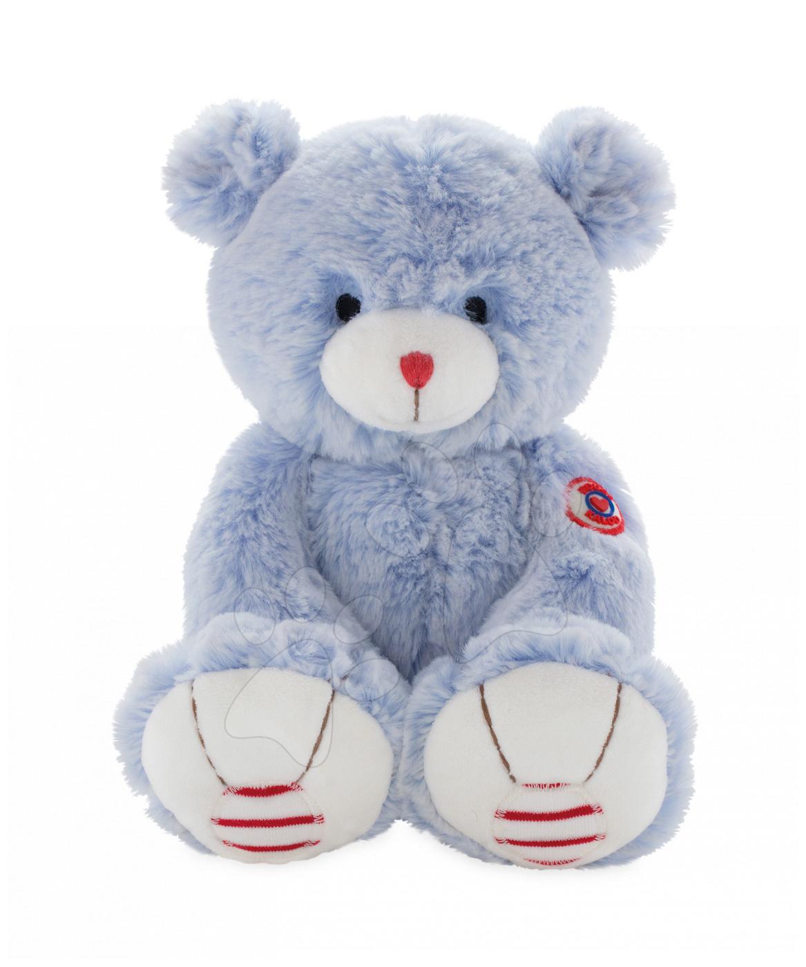 Plyšový medvěd Rouge Kaloo Small 13 cm z jemného plyše pro nejmenší děti modro-krémový