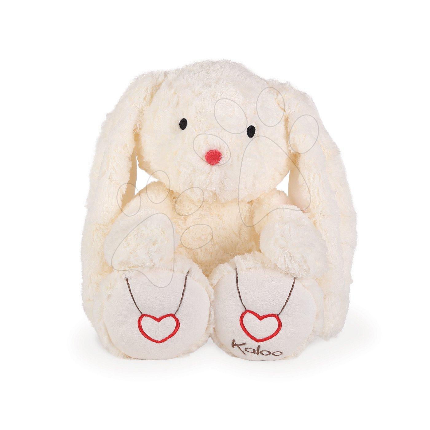 Plyšový zajačik Rouge Kaloo s výšivkou pre najmenšie deti 38 cm krémový od 0 mesiacov