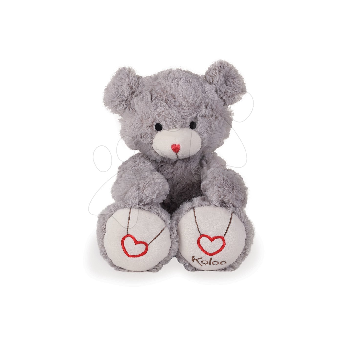 Plyšový medvěd Rouge Kaloo s výšivkou pro nejmenší děti 31 cm šedý od 0 měsíců