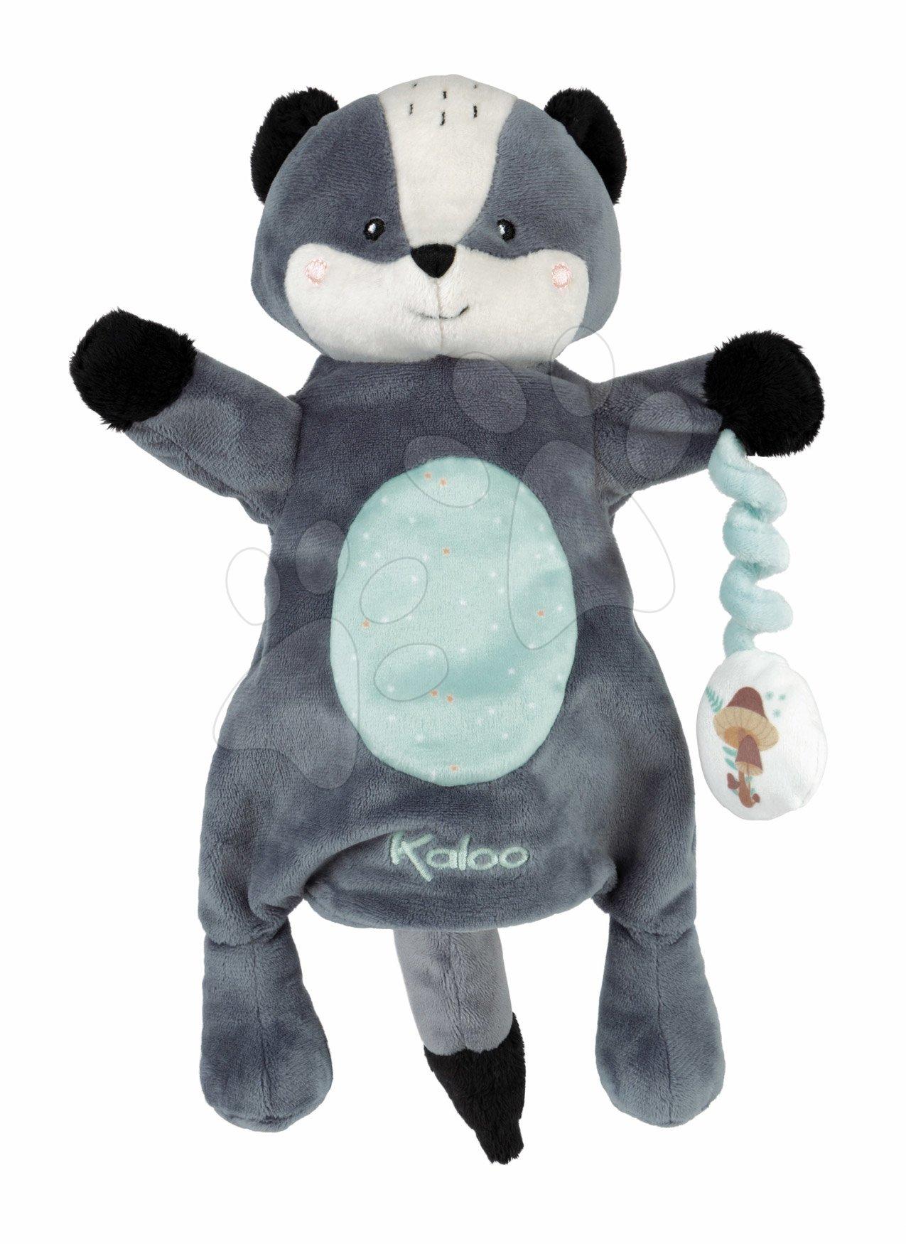 Plyšový medvedík bábkové divadlo Malo Kachoo Kaloo s príveskom hríbik 30 cm pre najmenších od 0 mes