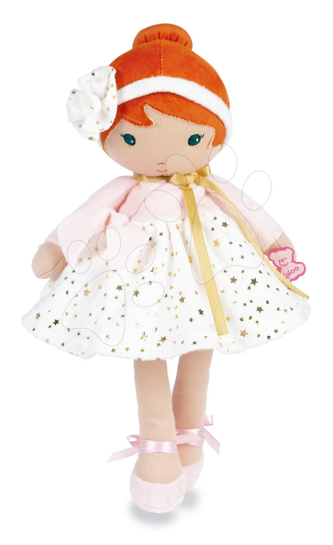 Bábika pre bábätká Valentine K Doll Tendresse Kaloo 25 cm vo hviezdičkových šatách z jemného textilu v darčekovom balení od 0 mes