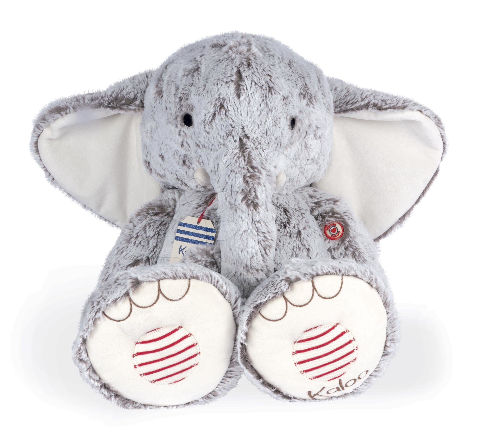 Plyšové a textilní hračky - Plyšový slon Noa Elephant Grey XL Rouge Kaloo šedý 55 cm z jemného materiálu pro nejmenší od 0 měsíců
