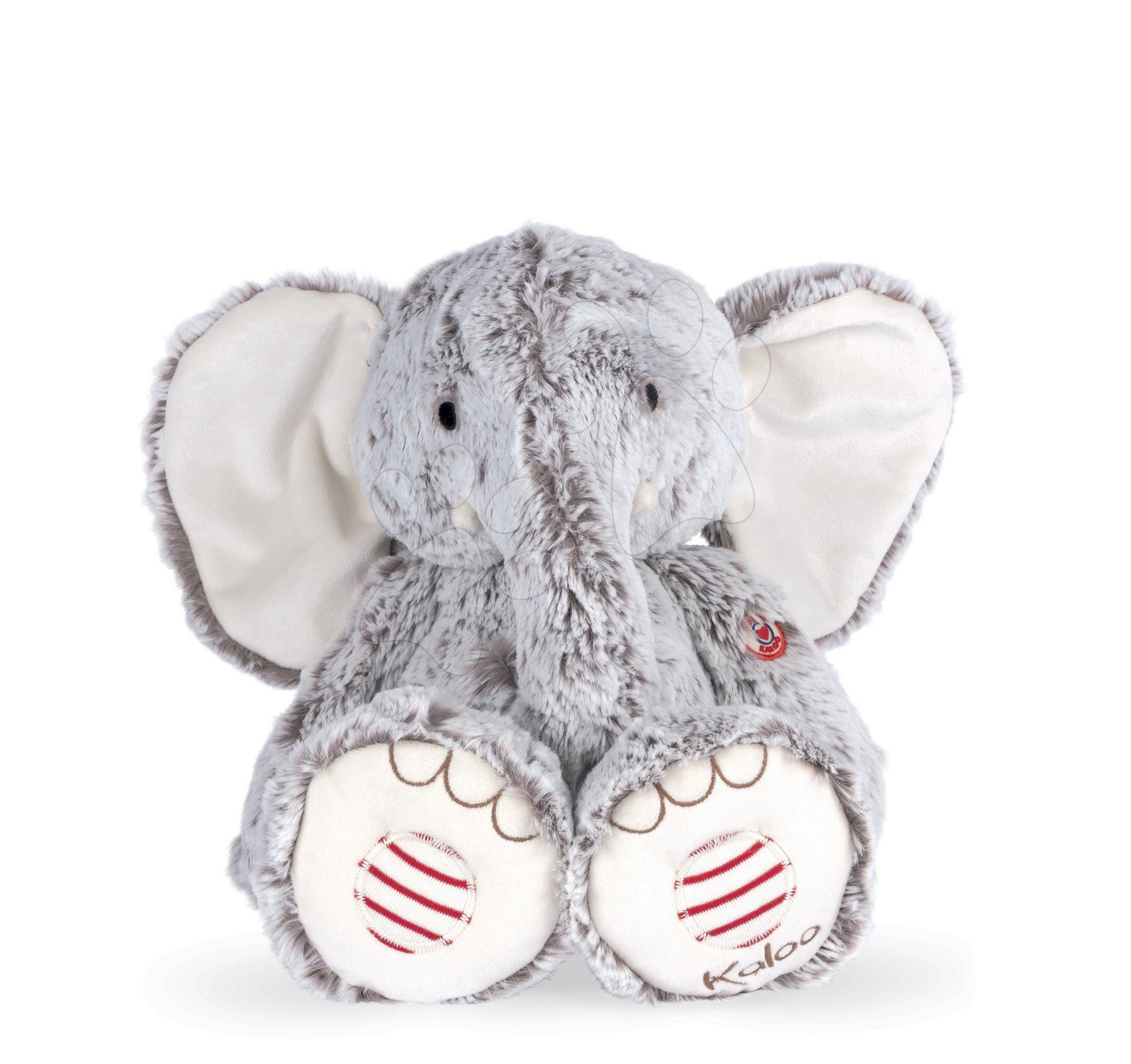 Plyšový slon Noa Elephant Grey L Rouge Kaloo šedý 38 cm z jemného materiálu pro nejmenší od 0 měsíců