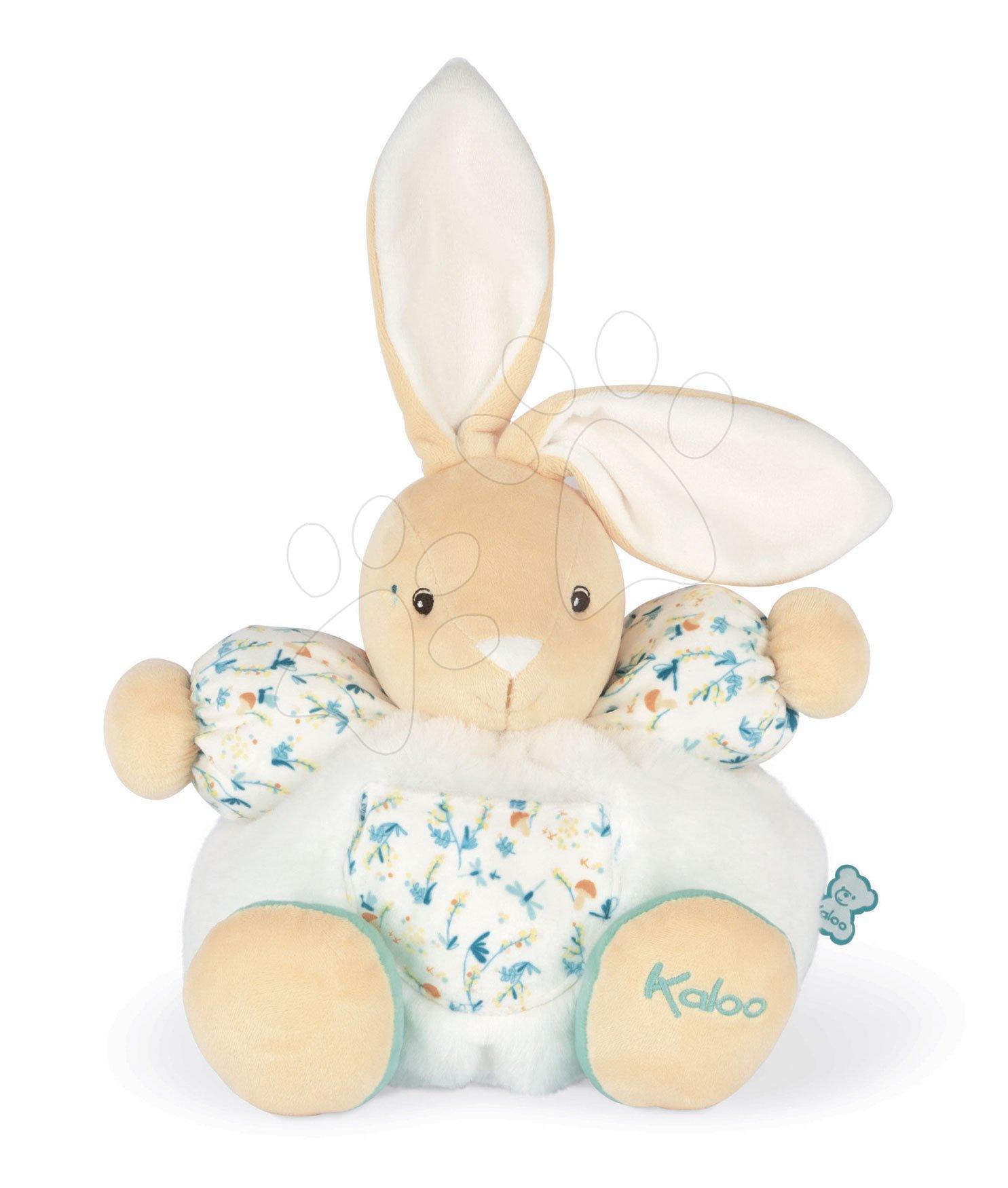 Plyšový zajíc do postýlky Justin Chubby Rabbit Fripons Kaloo z jemného materiálu 25 cm v dárkovém balení od 0 měsíců