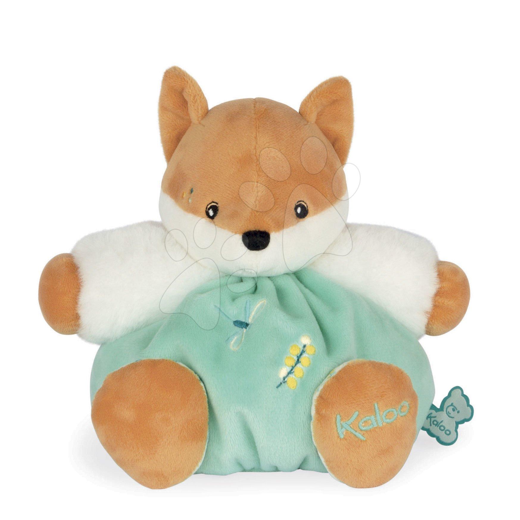 Plyšová liška s hudbou do postýlky Leonard Musical Fox Fripons Kaloo z jemného materiálu 18 cm v dárkovém balení od 0 měsíců