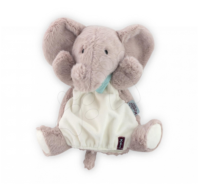 Bábky pre najmenších - Plyšový slon bábkové divadlo Les Amis-Elephant Doudou Kaloo 30 cm pre najmenších